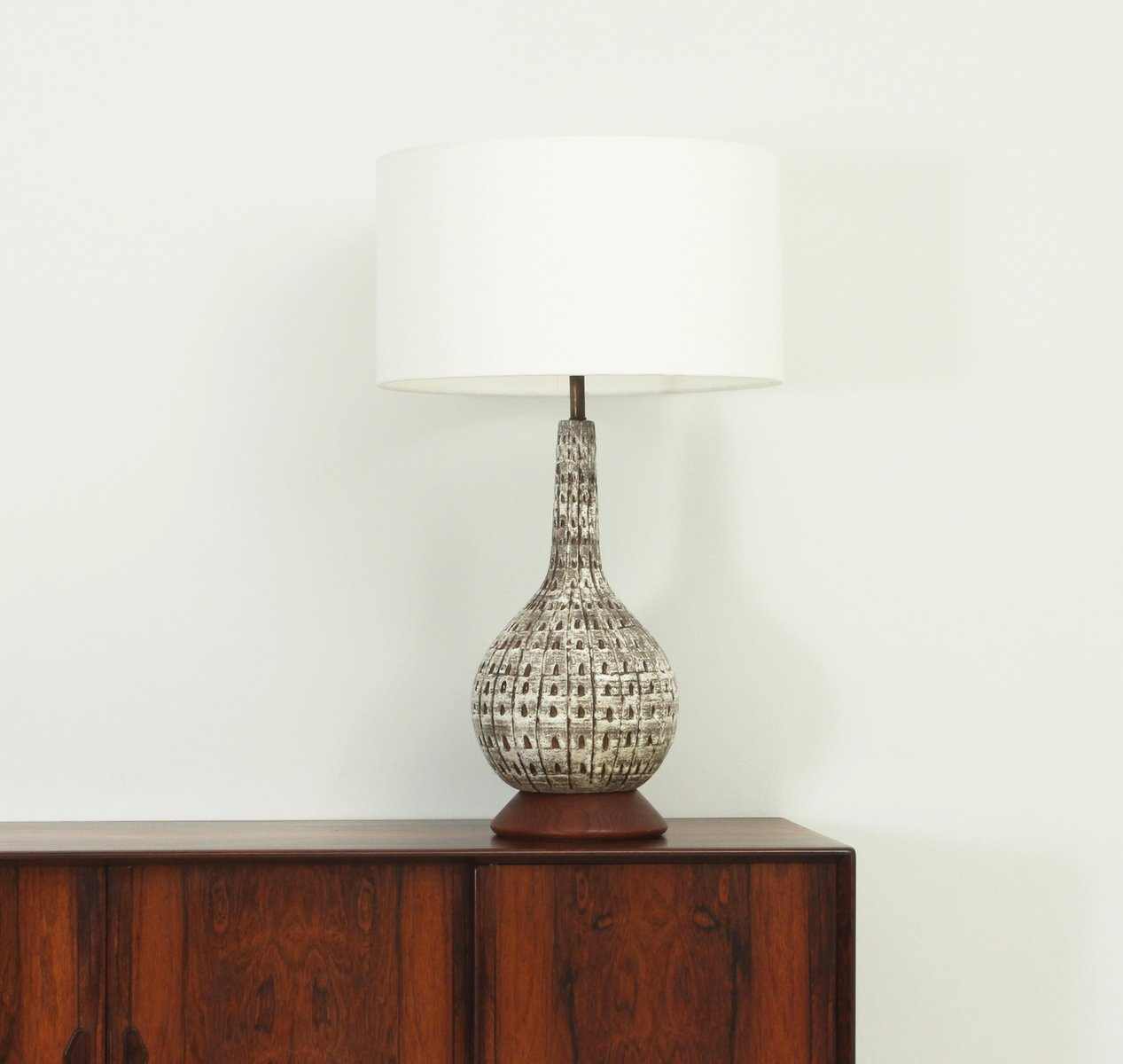 Mid-Century Large American Glazed Ceramic Table Lamp, 1950s for ...