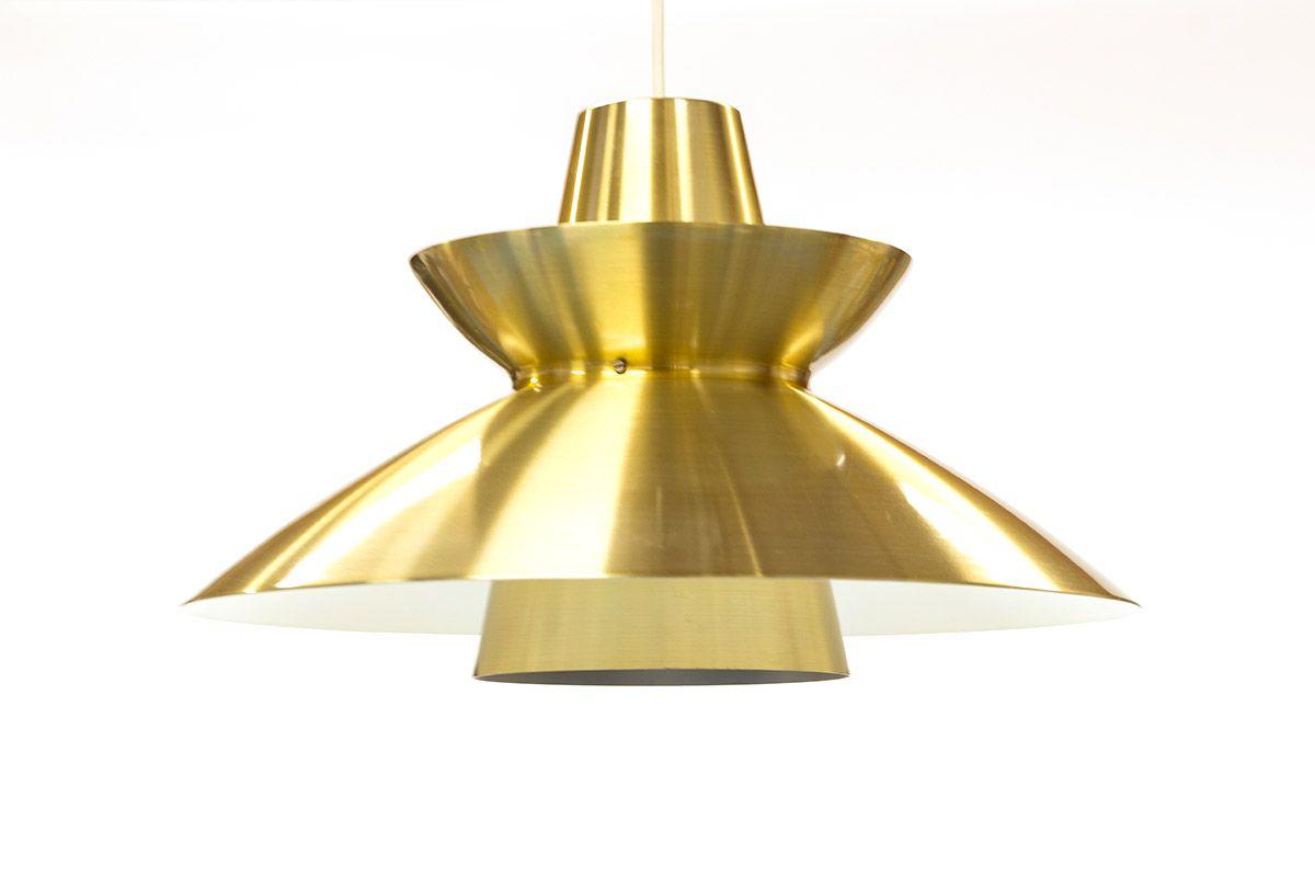 lampe suspension s v rnspendel vintage en laiton par j rn utzon for nordisk solar en vente sur. Black Bedroom Furniture Sets. Home Design Ideas
