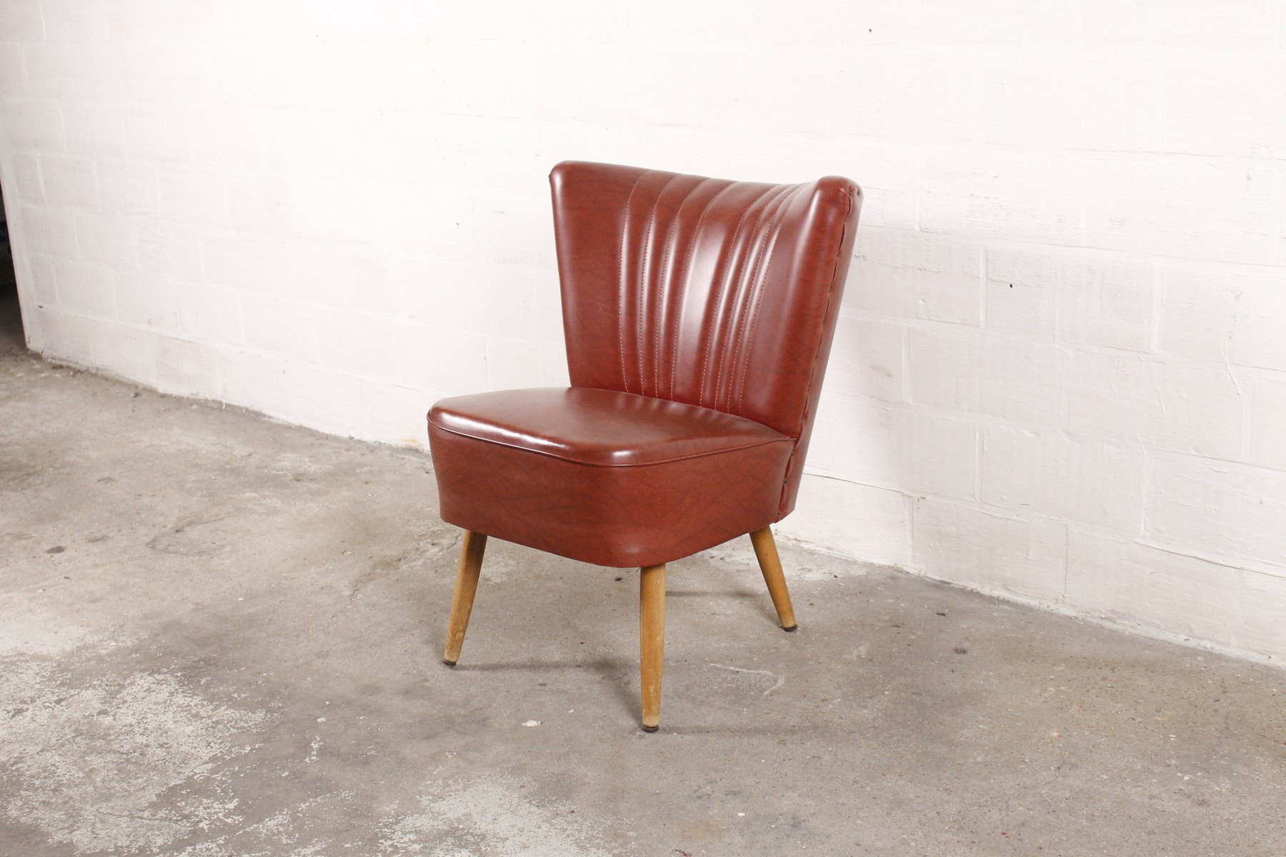 Roter vintage sessel bei pamono kaufen for Roter sessel