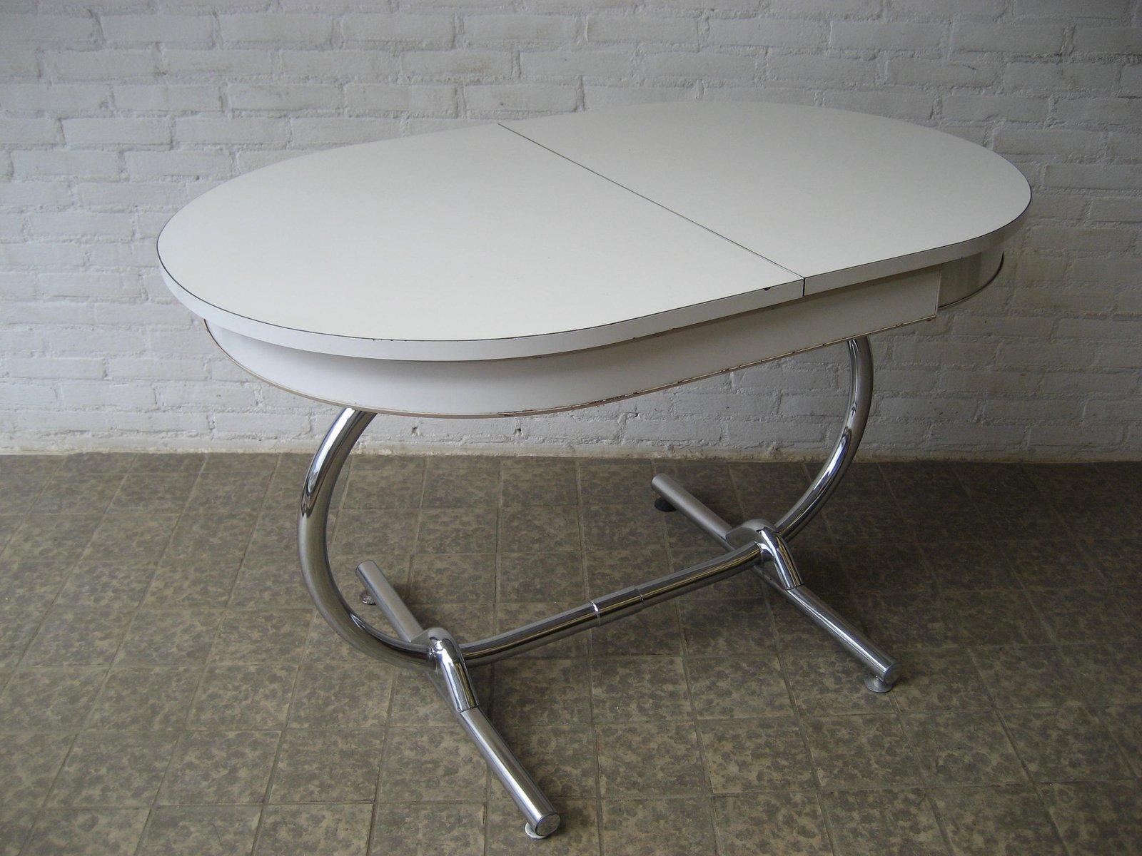 Weißer Ausziehbarer Vintage Esstisch bei Pamono kaufen