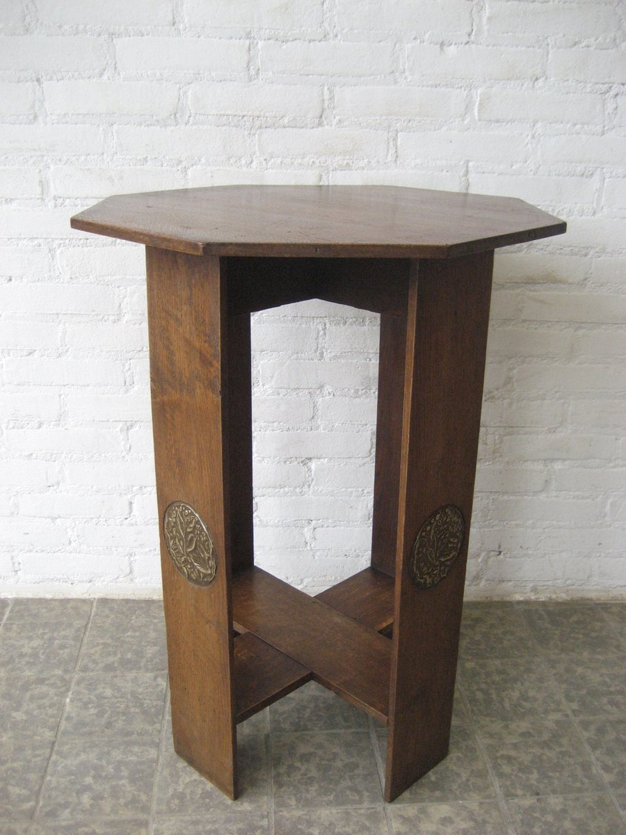 Octagonal Art Deco Side Table