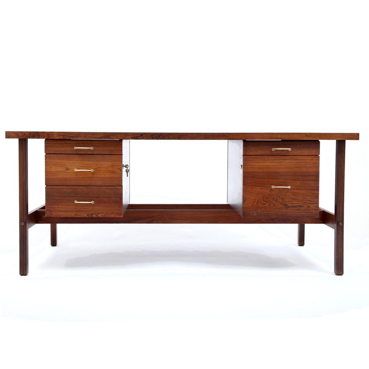 Mid Century Walnut Writing Desk For Sale At Pamono