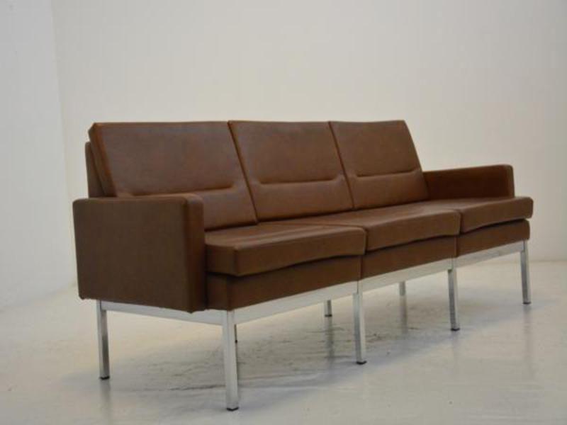 Kunstleder sofa aus frankreich 1960er bei pamono kaufen for Gebrauchte sofas hamburg