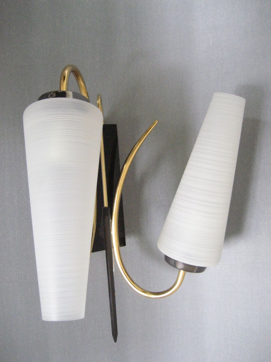Vintage Wall Lamp Shades : Vintage Double Shade French Wall Lamp, 1950s for sale at Pamono