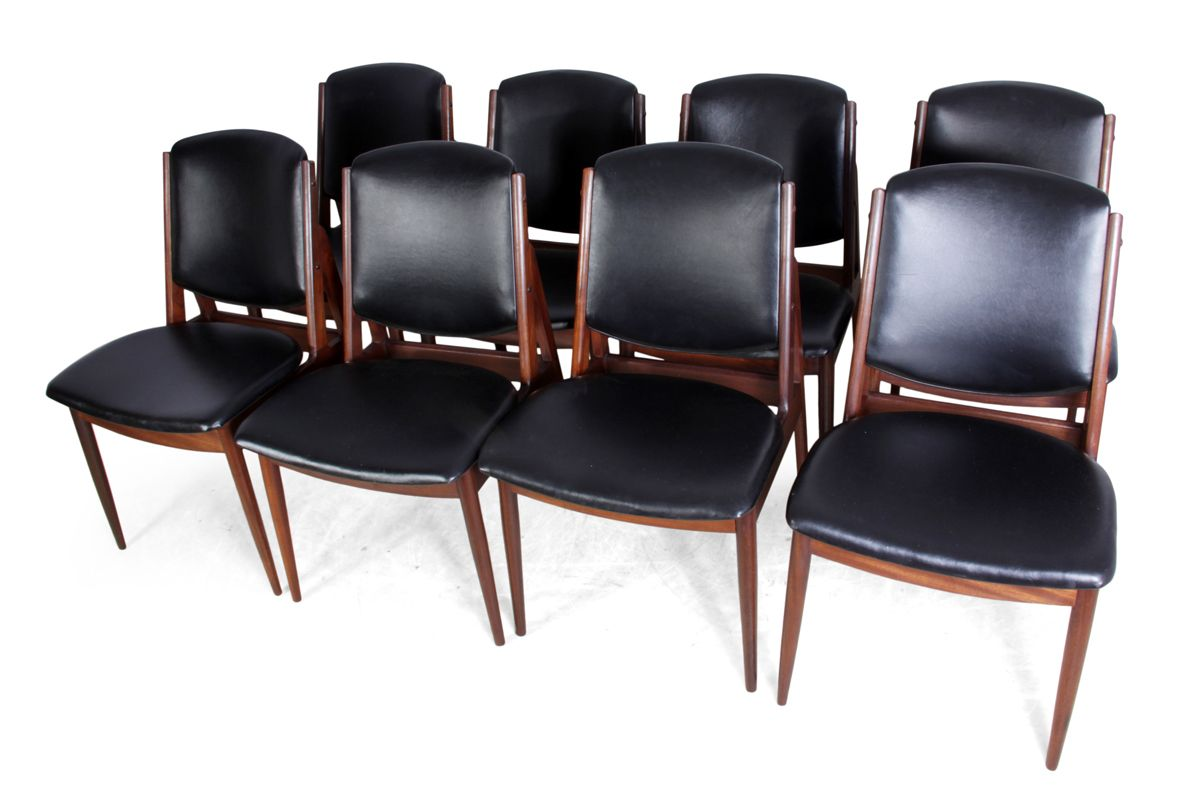 Mid century dining chairs set of 8 for sale at pamono for Cheap dining chairs set of 8