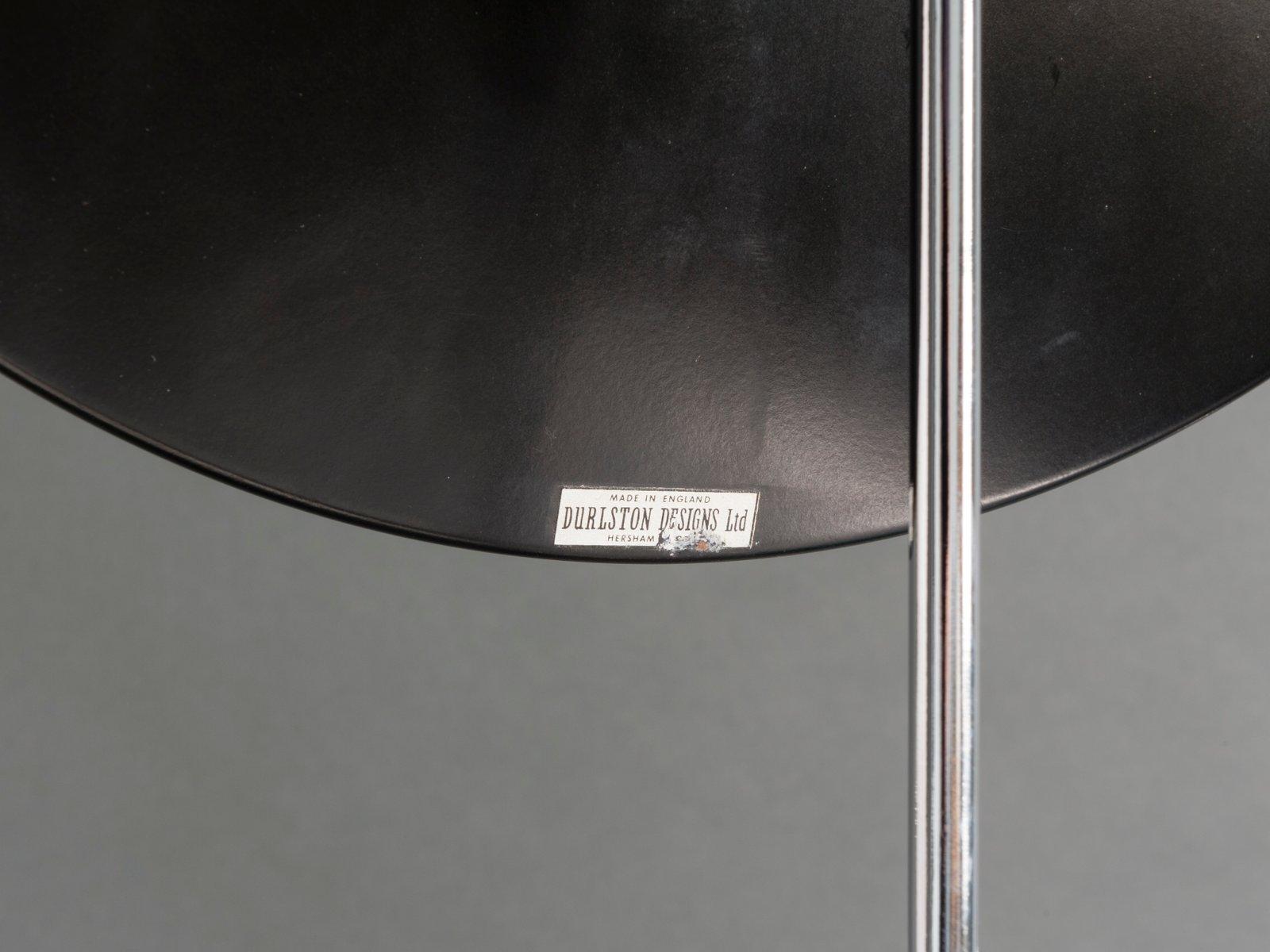 Grand miroir avec tr pied noir et chrome de durlston for Grand miroir solde