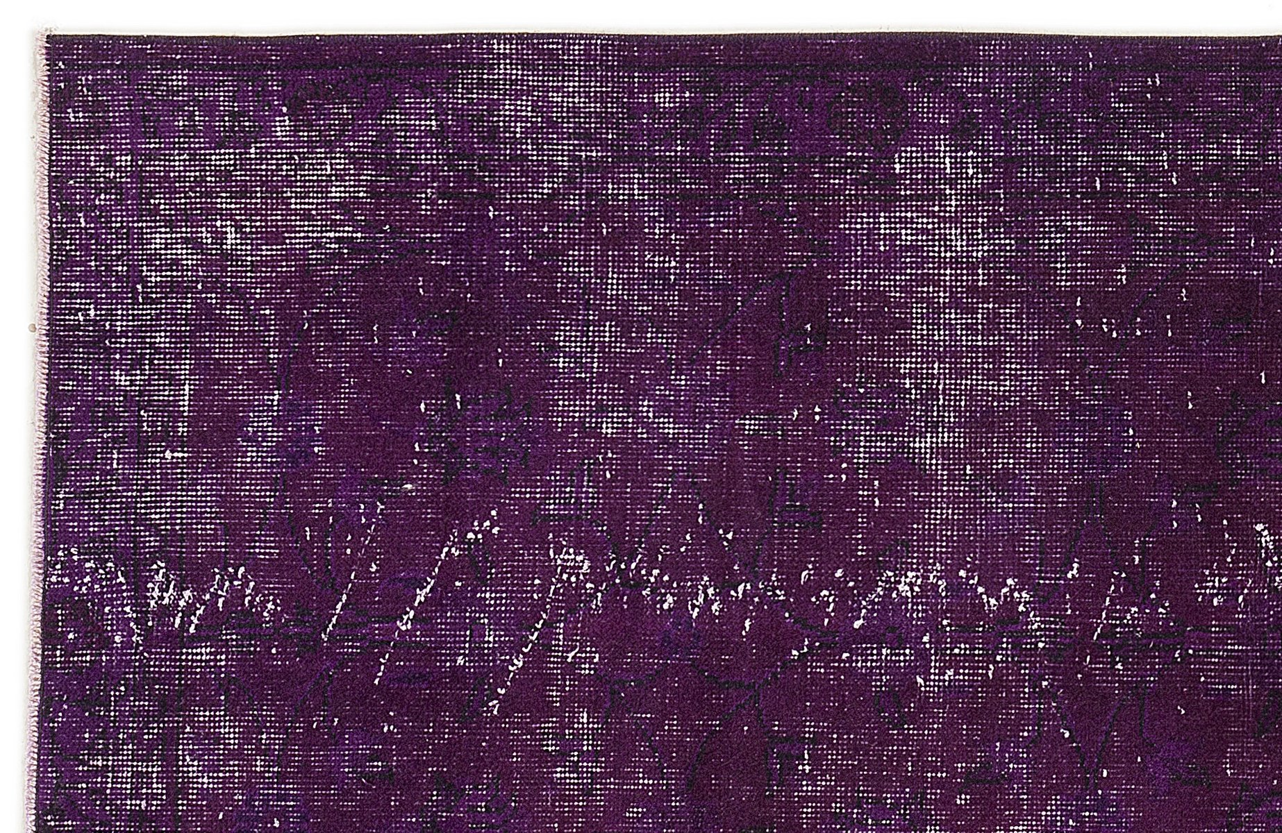 Purple Over Dyed Turkish Rug For Sale At Pamono