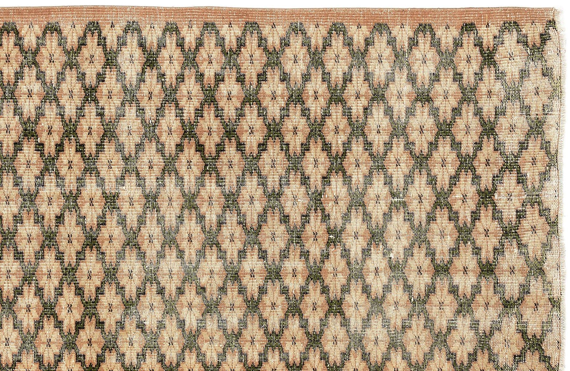 braun eingef rbter vintage teppich 1960er bei pamono kaufen. Black Bedroom Furniture Sets. Home Design Ideas