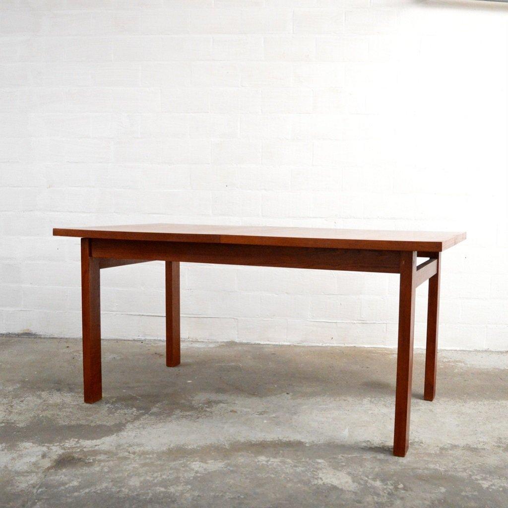 ausziehbarer vintage teakholz tisch bei pamono kaufen. Black Bedroom Furniture Sets. Home Design Ideas