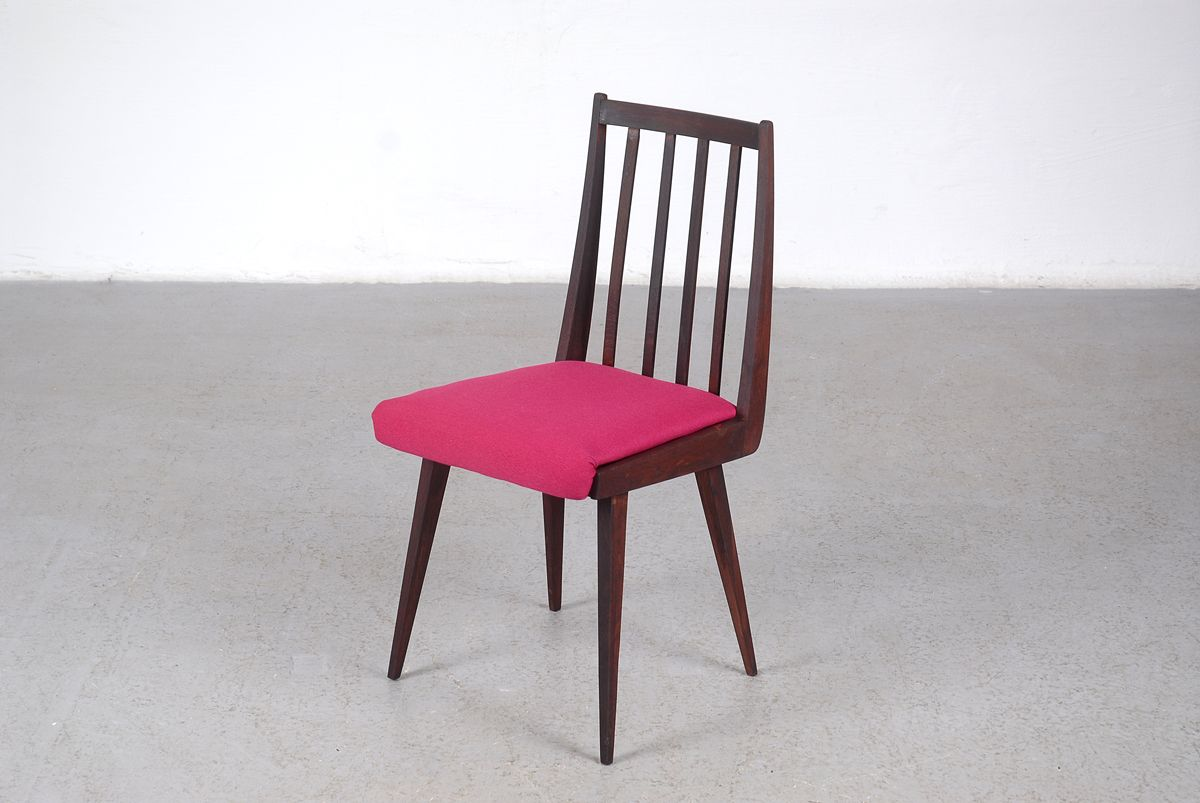 mid century hungarian side chair with pink upholstery for sale at pamono. Black Bedroom Furniture Sets. Home Design Ideas