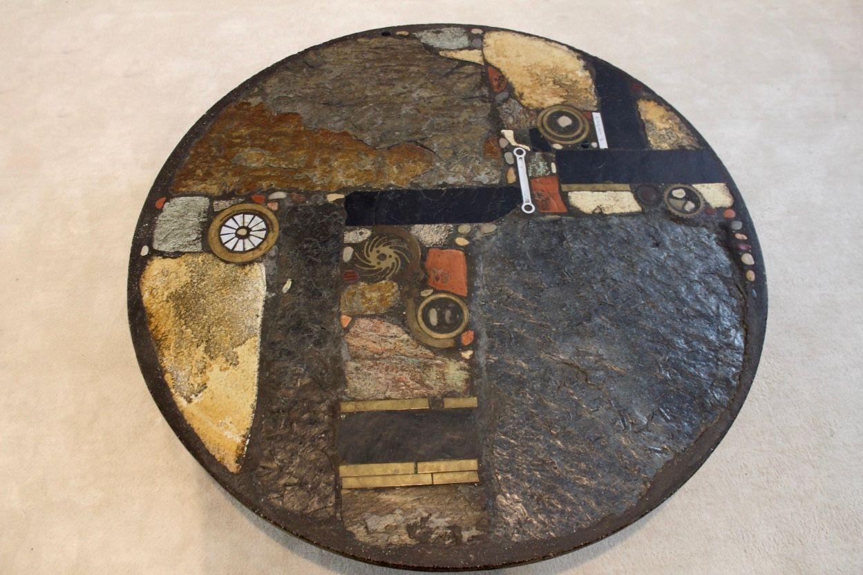 Brutalistischer Keramik Couchtisch von Paul Kingma, 1974