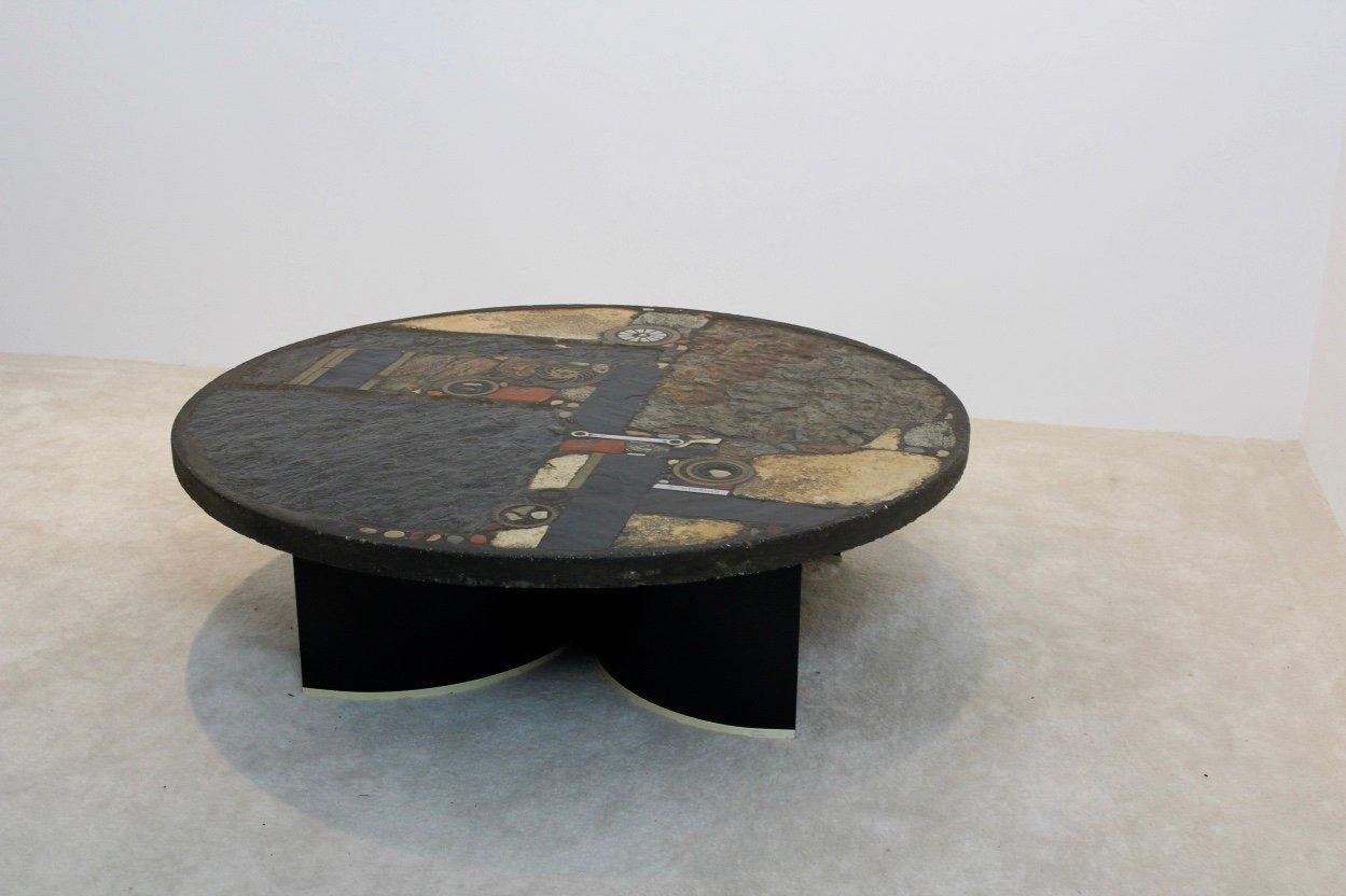 Brutalistischer Keramik Couchtisch von Paul Kingma, 197