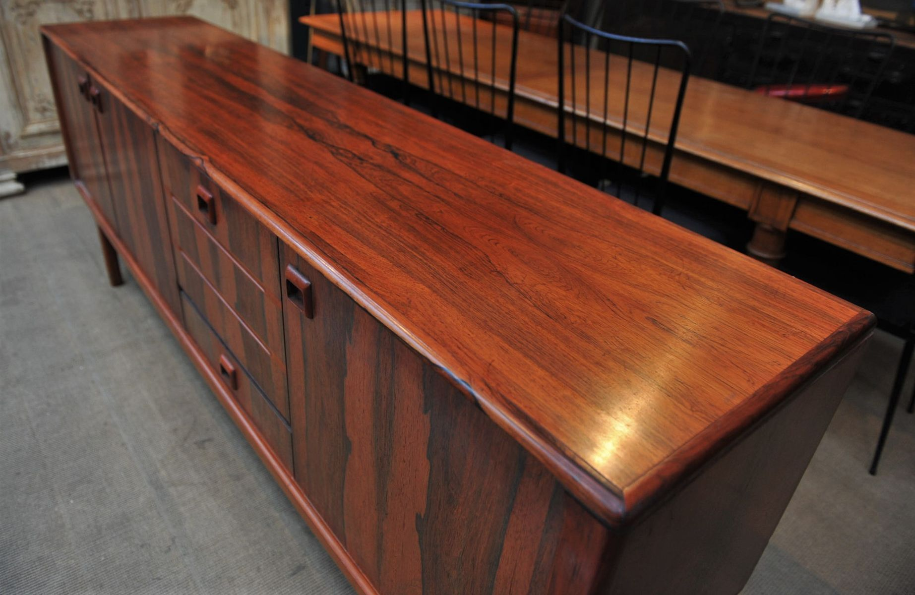 Large danish rosewood credenza 1950s for sale at pamono for 1950 s credenza