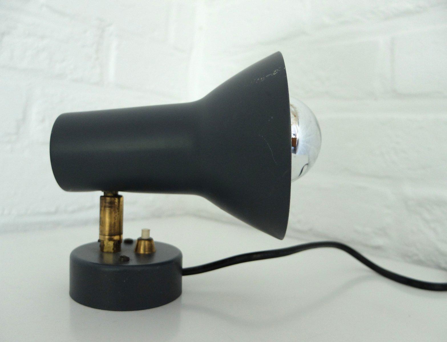 dunkelgraue skandinavische mid century wandlampe von nordisk solar bei pamono kaufen. Black Bedroom Furniture Sets. Home Design Ideas