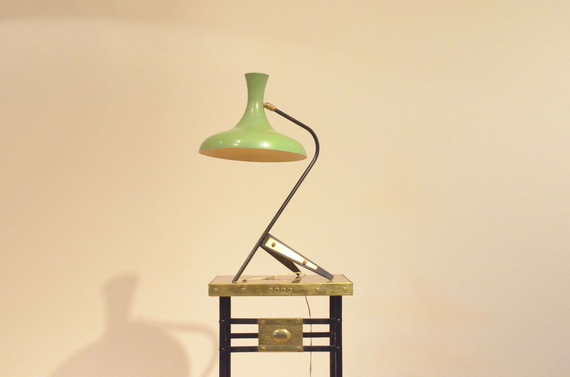 midcentury french extra large tripod table lamp from maison lunel 1950s
