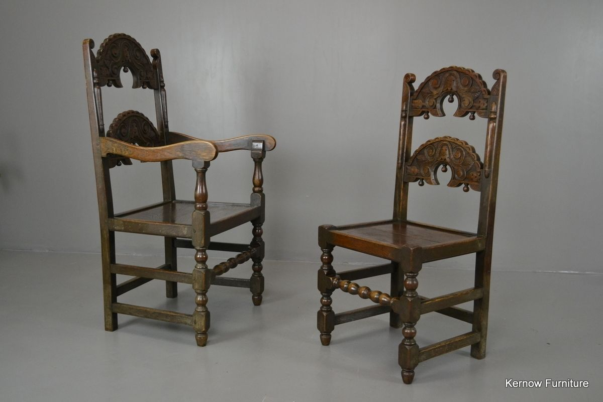 Victorian oak elm yorkshire dining chairs set of for