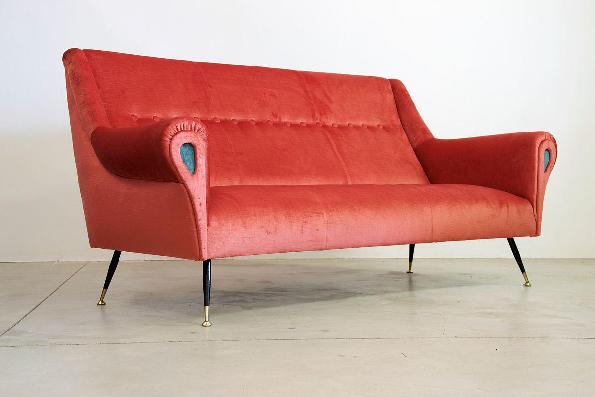 Italienisches drei sitzer sofa 1960er bei pamono kaufen for Sofa 4 sitzer landhausstil