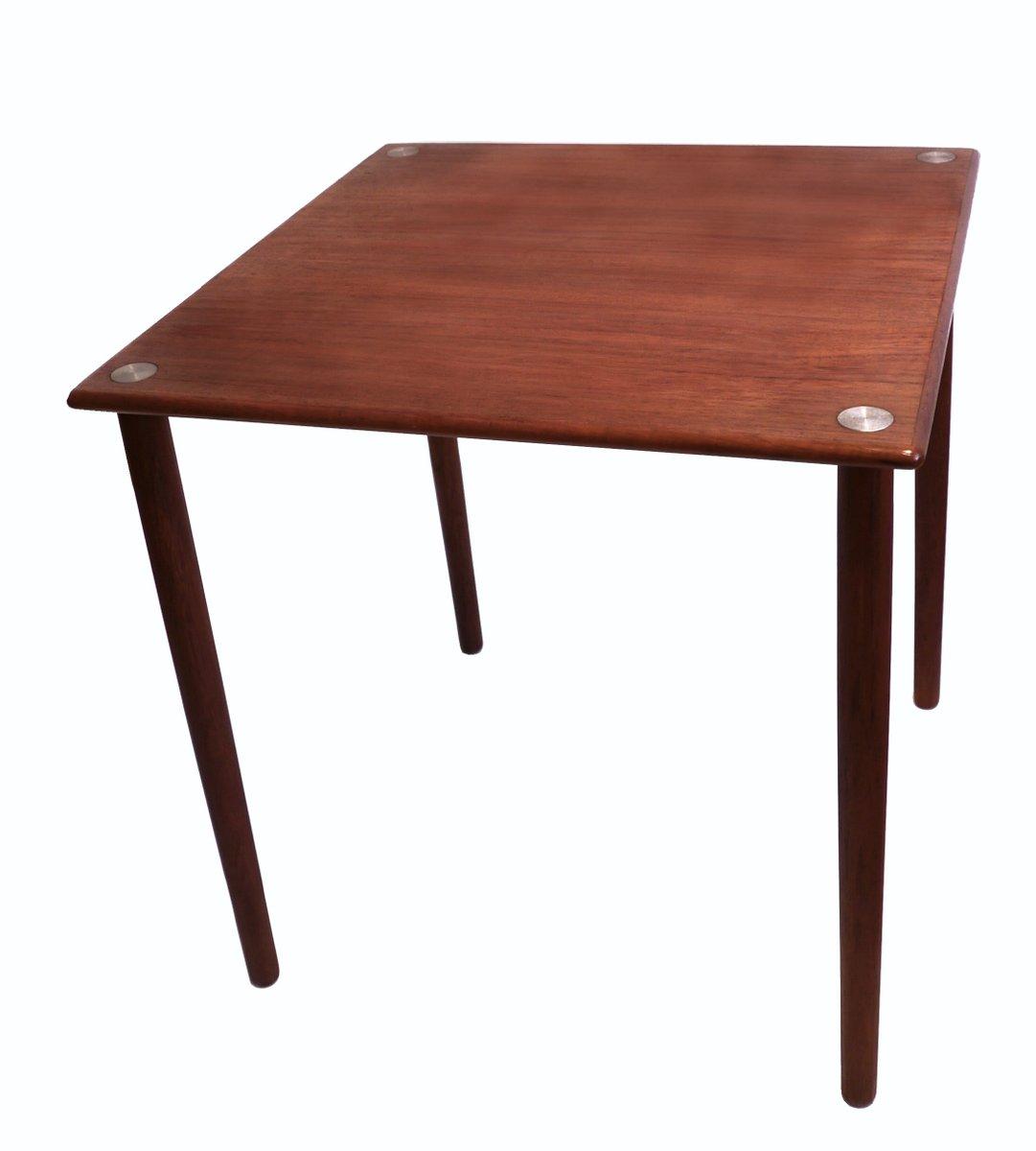 Mid Century Danish Teak Cube Side Table From GP Farum