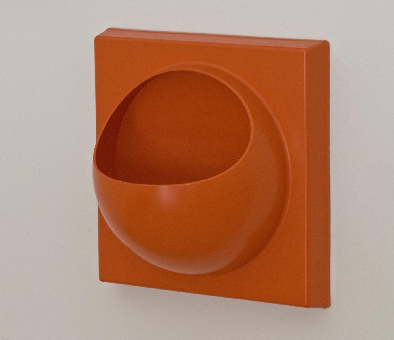 orangenfarbenes vintage quadro haken lampen spiegel. Black Bedroom Furniture Sets. Home Design Ideas