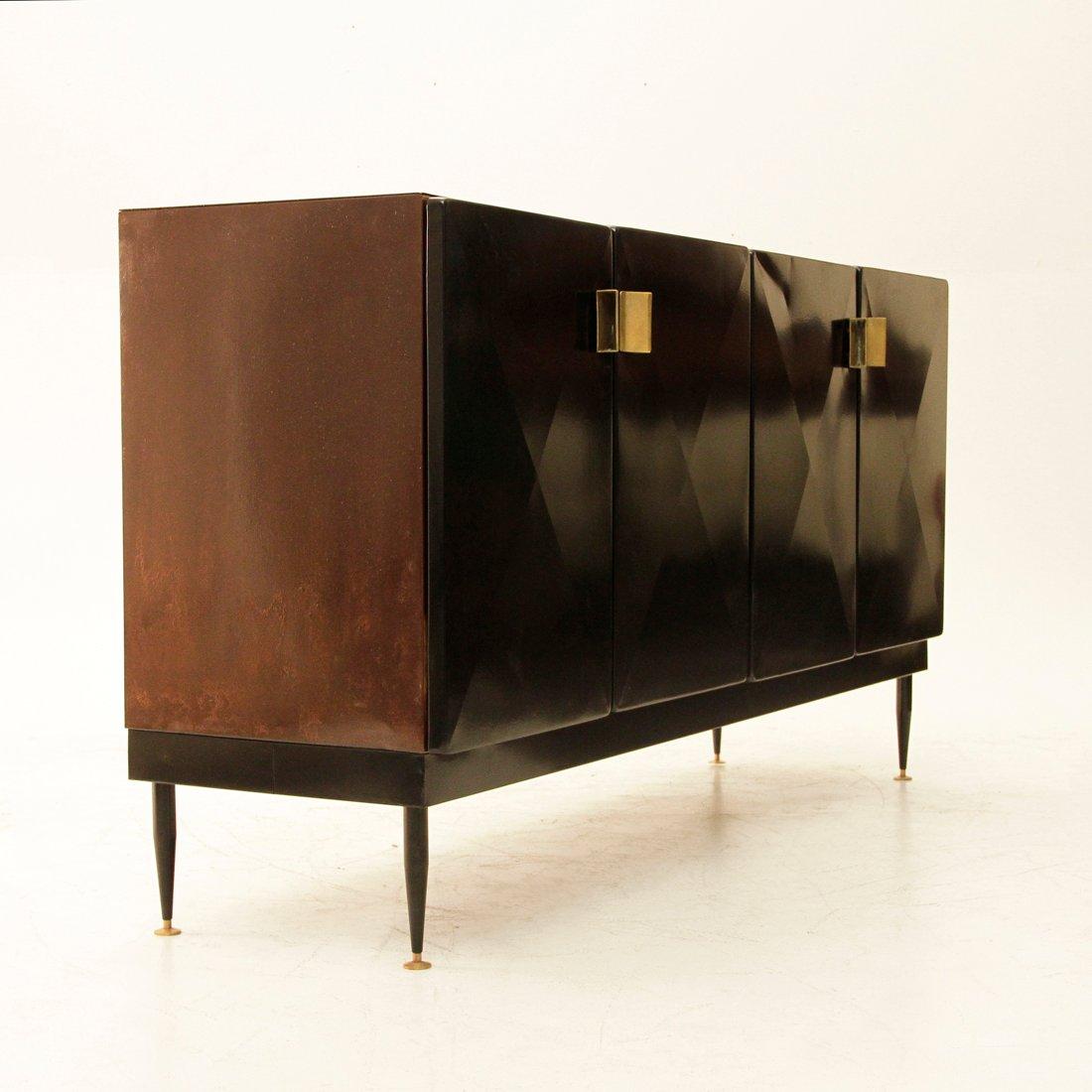 italienische industrielle vintage metall anrichte bei. Black Bedroom Furniture Sets. Home Design Ideas