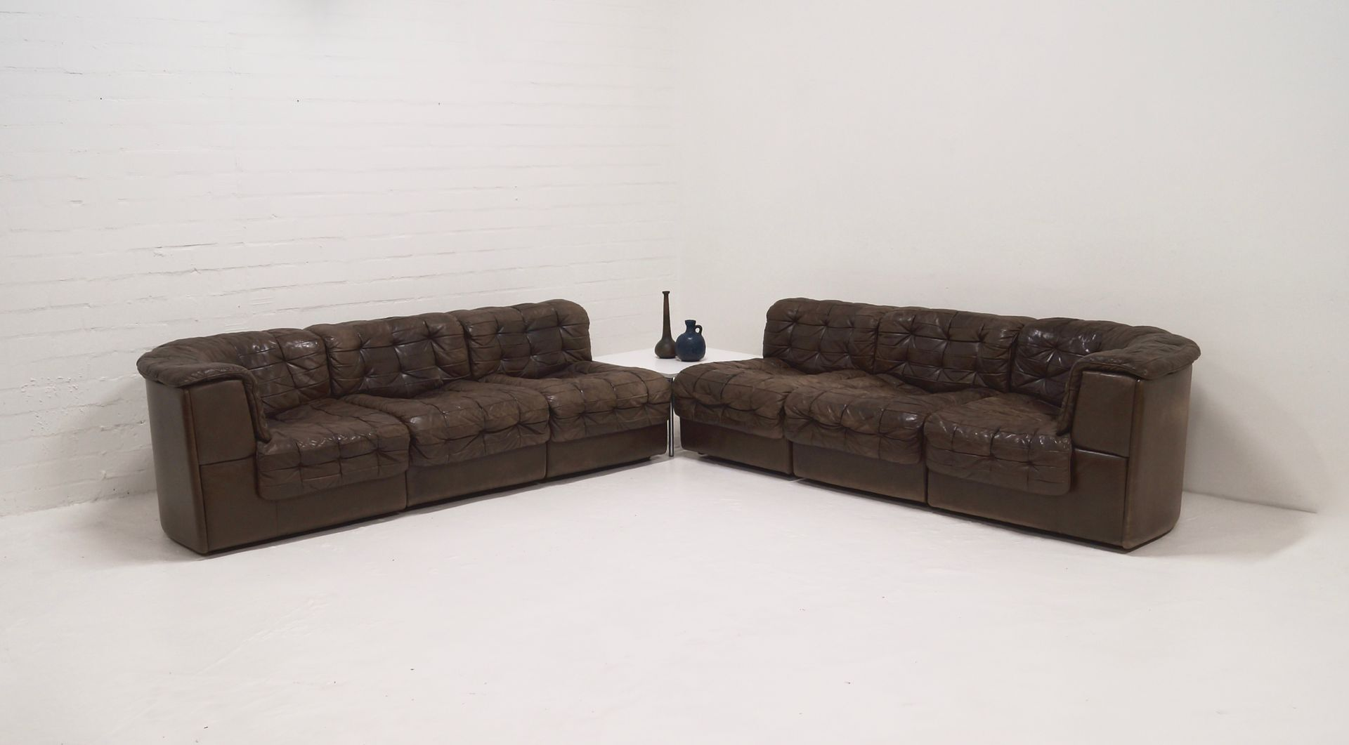 Ds 11 Leather Modular Sofa From De Sede 1970s For Sale At Pamono