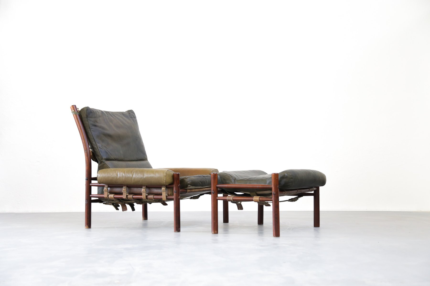 mid century lounge chair ottoman from arne norell for sale at pamono