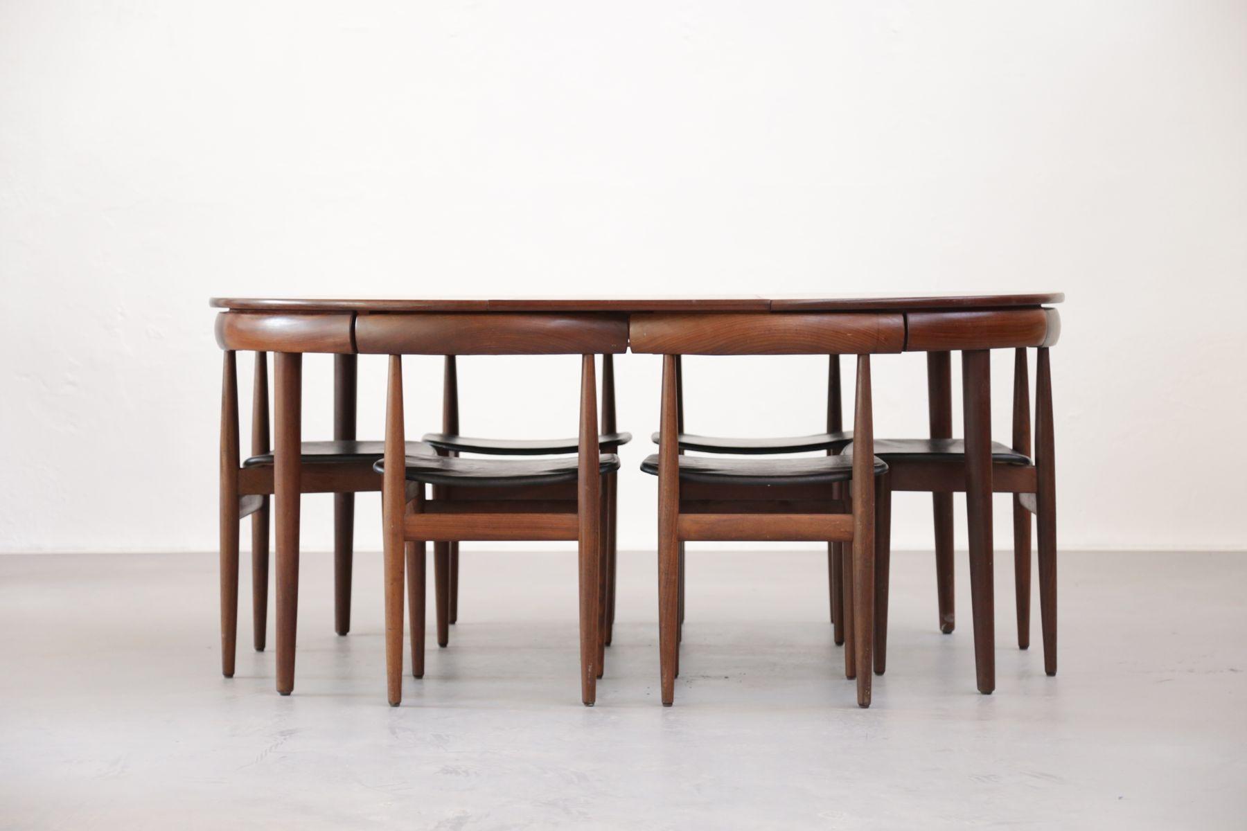 Mid Century Danish Dining Set By Hans Olsen For Frem R 248 Jle