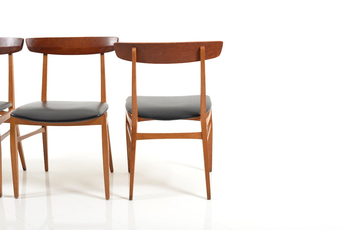 Beech Teak Dining Chairs 1950s Set Of 4 For Sale At Pamono