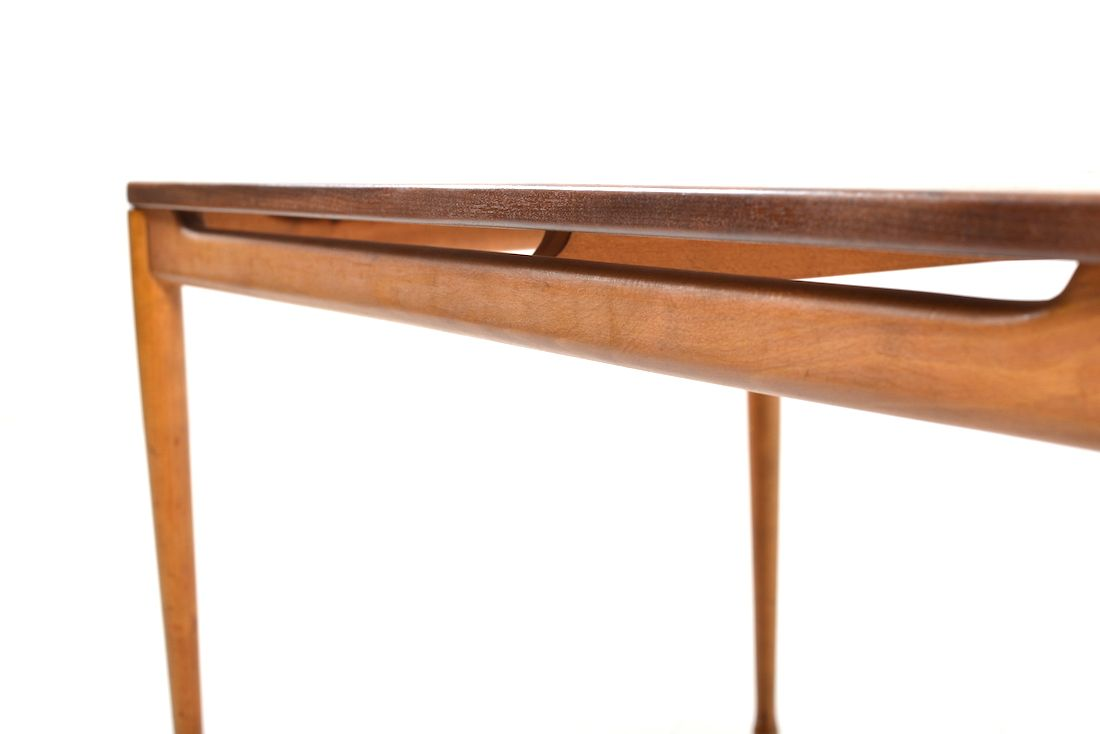 Teak Beech Coffee Table 1950s For Sale At Pamono