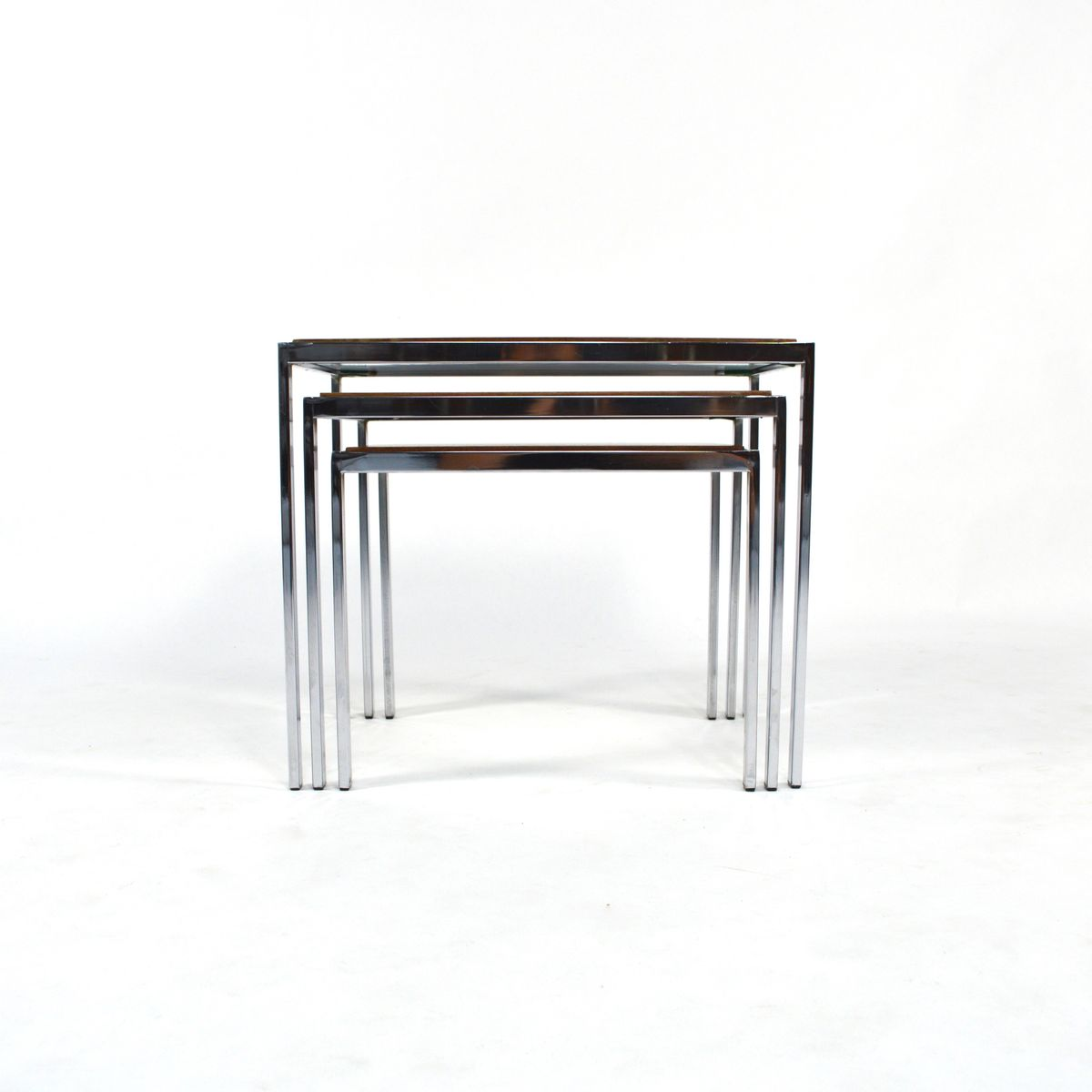 Wonderful image of Double Sided Nesting Tables 1960s for sale at Pamono with #60473A color and 1200x1200 pixels