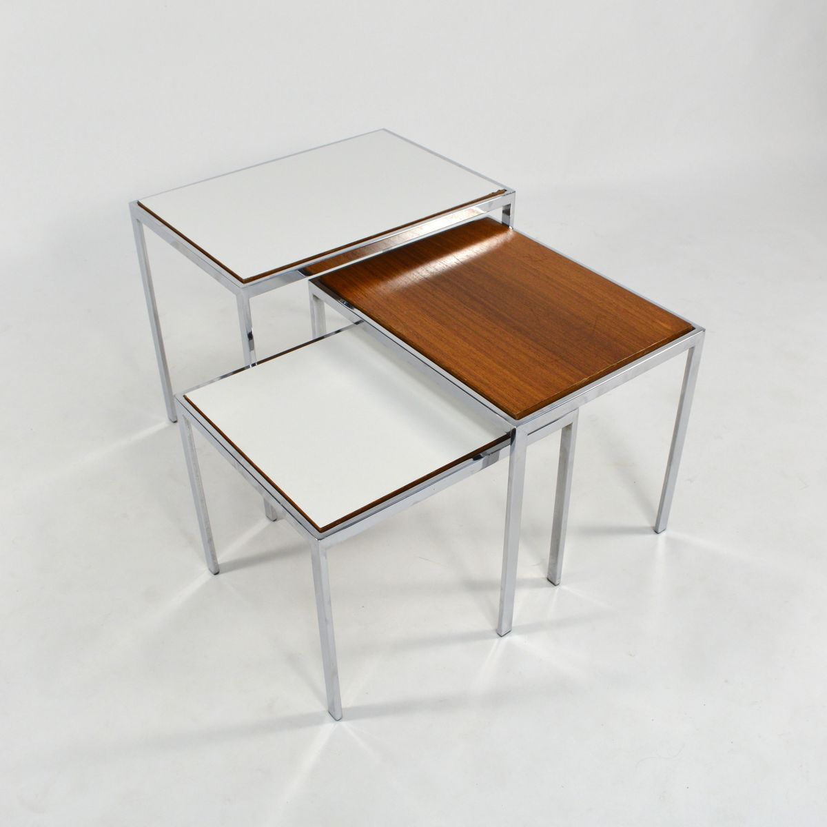 Wonderful image of Double Sided Nesting Tables 1960s for sale at Pamono with #40200C color and 1200x1200 pixels