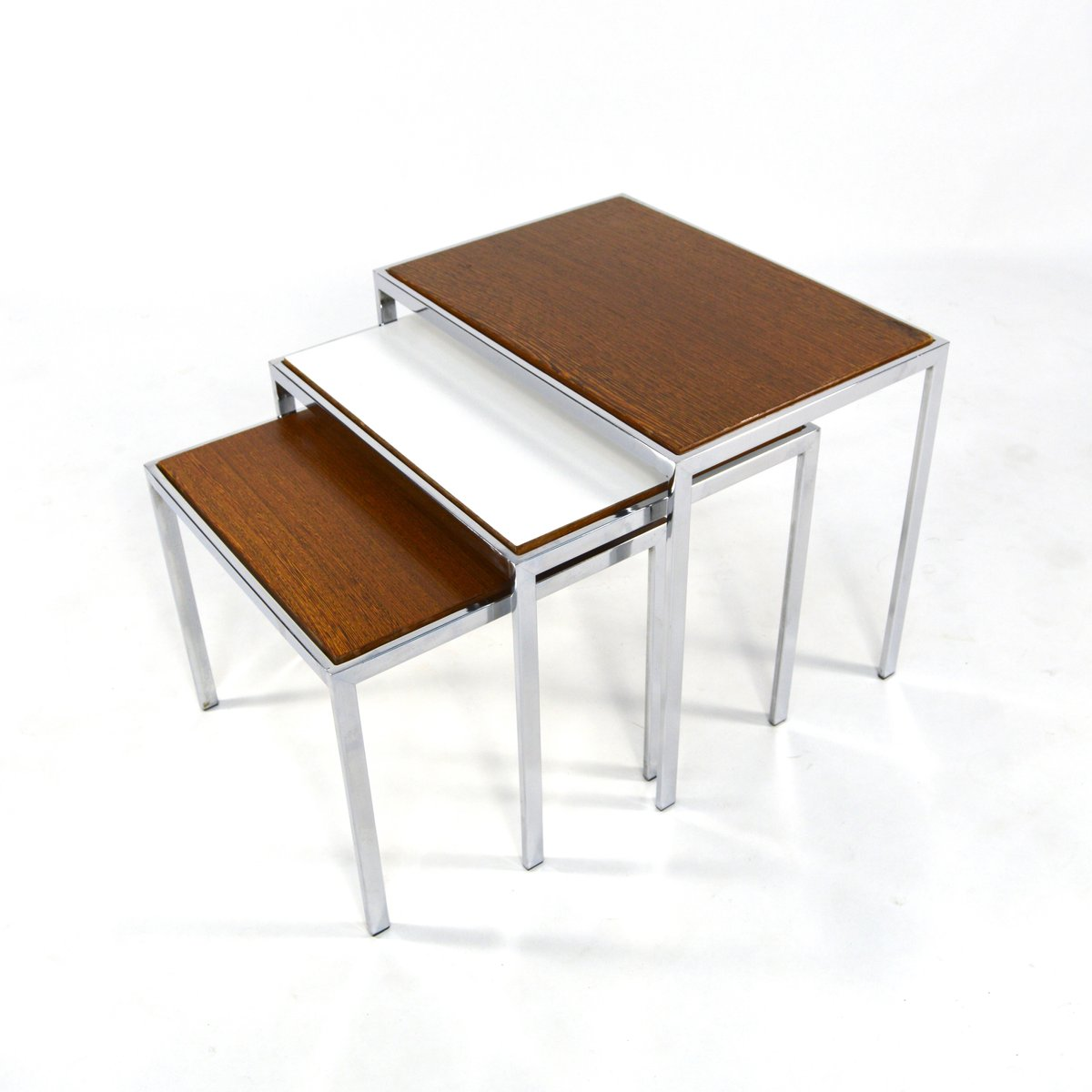Amazing photo of Double Sided Nesting Tables 1960s for sale at Pamono with #411F08 color and 1200x1200 pixels