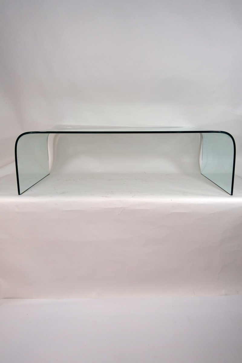 Vintage Waterfall Coffee Table by Angelo Cortesi for Fiam Italia