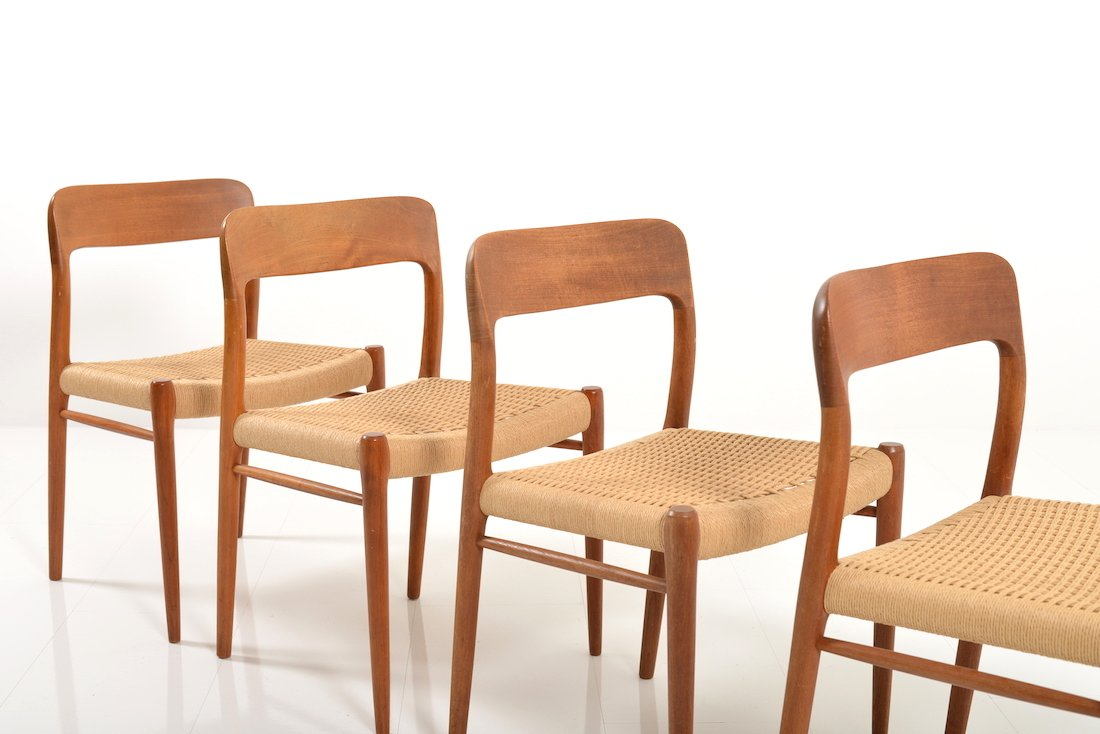 Vintage Moller Dining Chairs ~ Dining chairs by niels o møller set of for sale at pamono