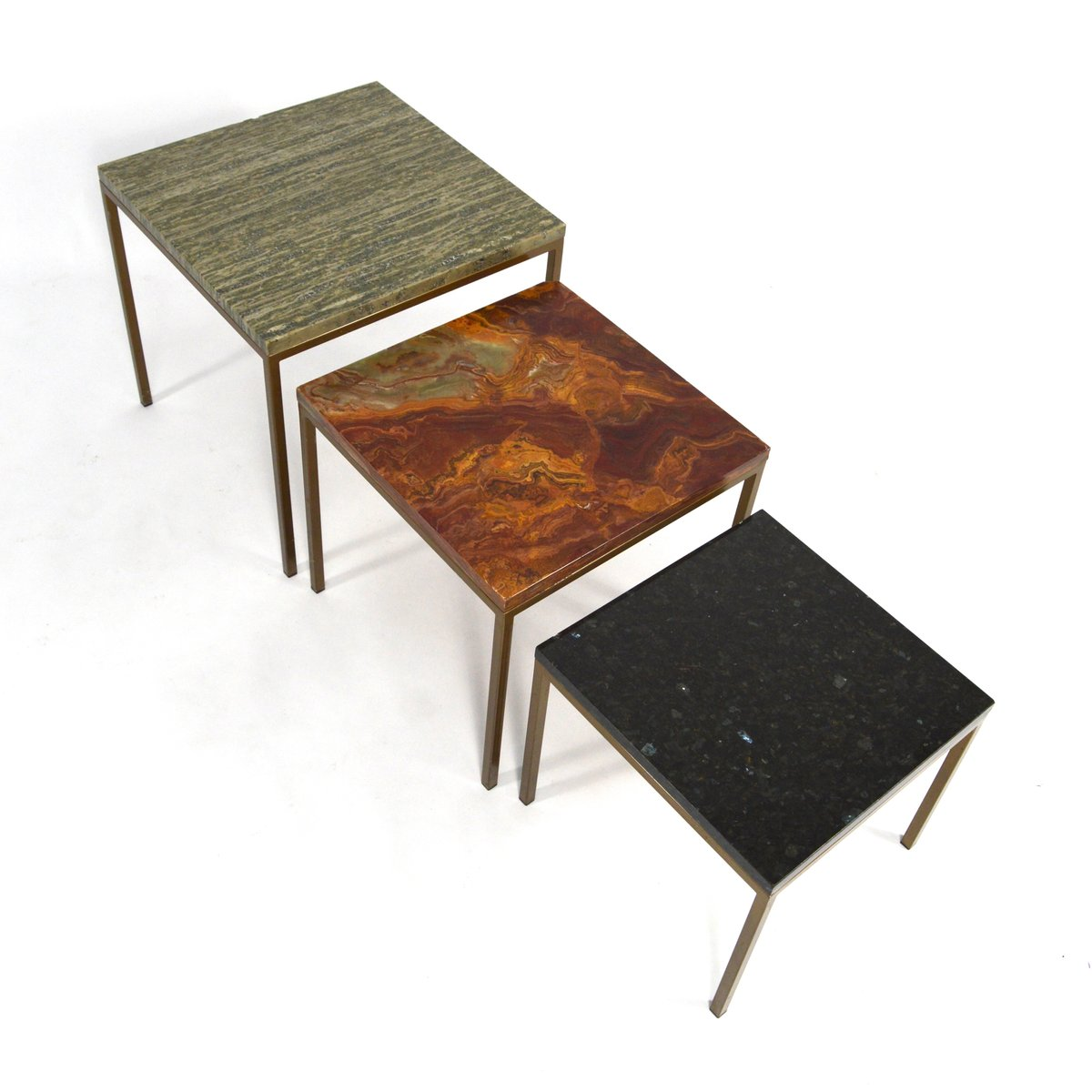 Amazing photo of Vintage Italian Marble Nesting Tables Set of 3 for sale at Pamono with #A46127 color and 1200x1200 pixels