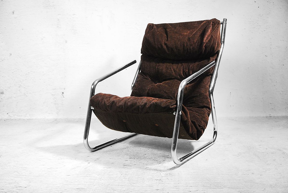 Chrome Pendant Lounge Chair 1960s For Sale At Pamono