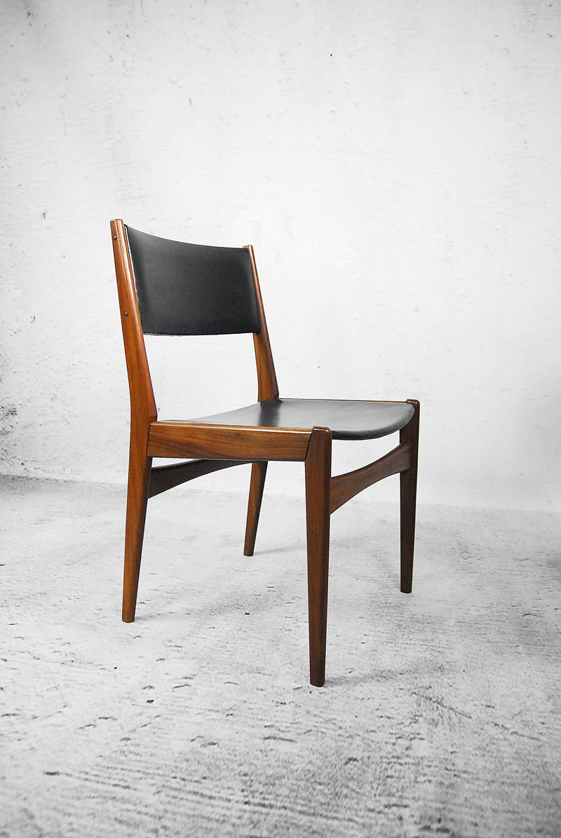 danish teak chairs by poul volther for frem r jle 1960s set of 4