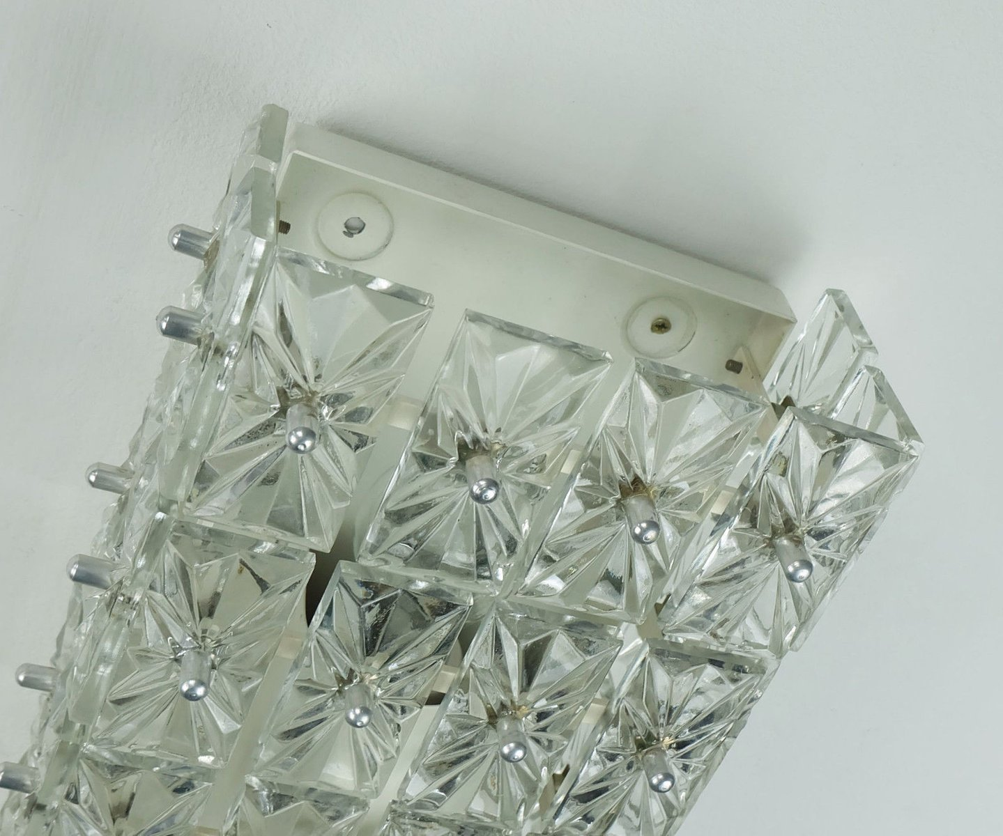 Faceted Glass Prism Wall Sconce, 1960s for sale at Pamono