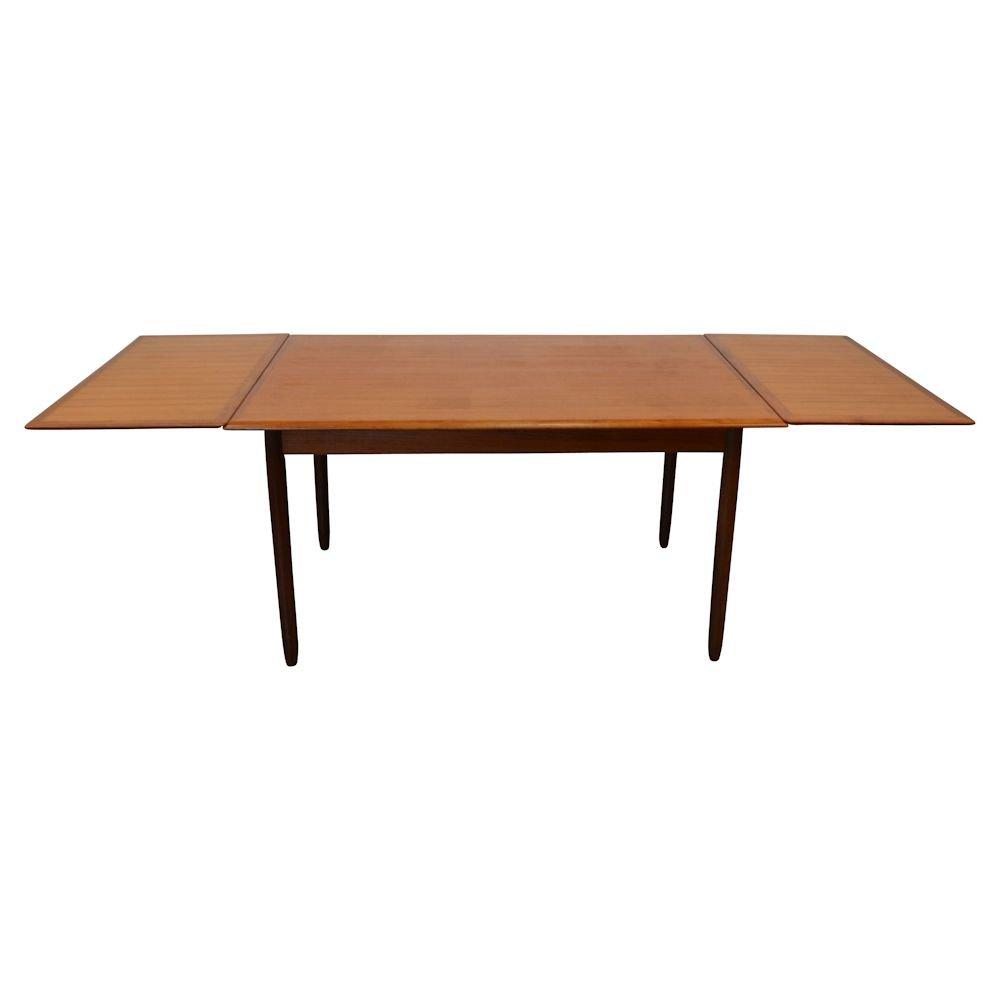 Mid Century Vintage Danish Teak Extendable Dining Table