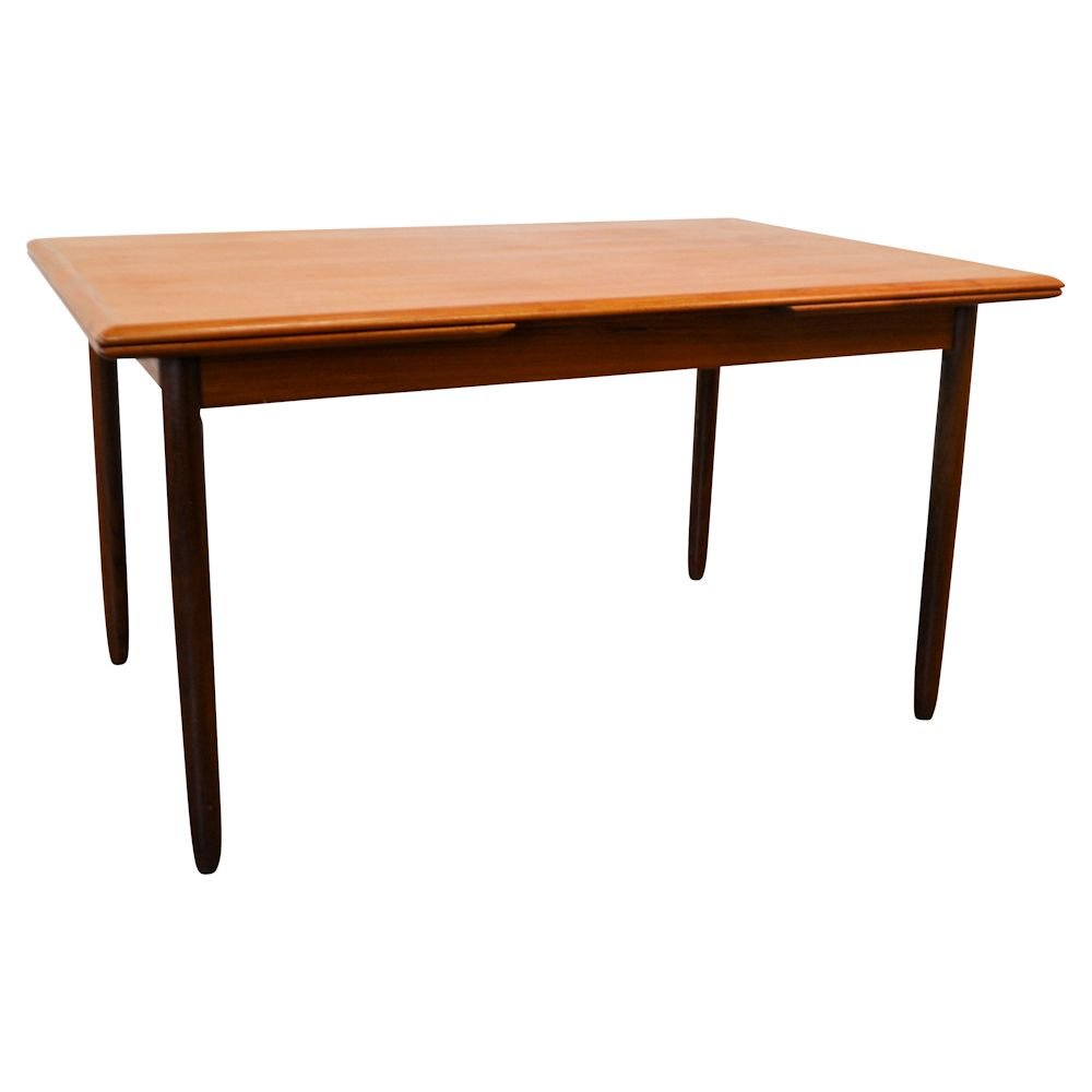 century vintage danish teak extendable dining table for sale at pamono