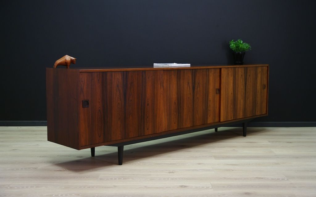 d nisches vintage palisander sideboard mit schiebet ren 1960er bei pamono kaufen. Black Bedroom Furniture Sets. Home Design Ideas