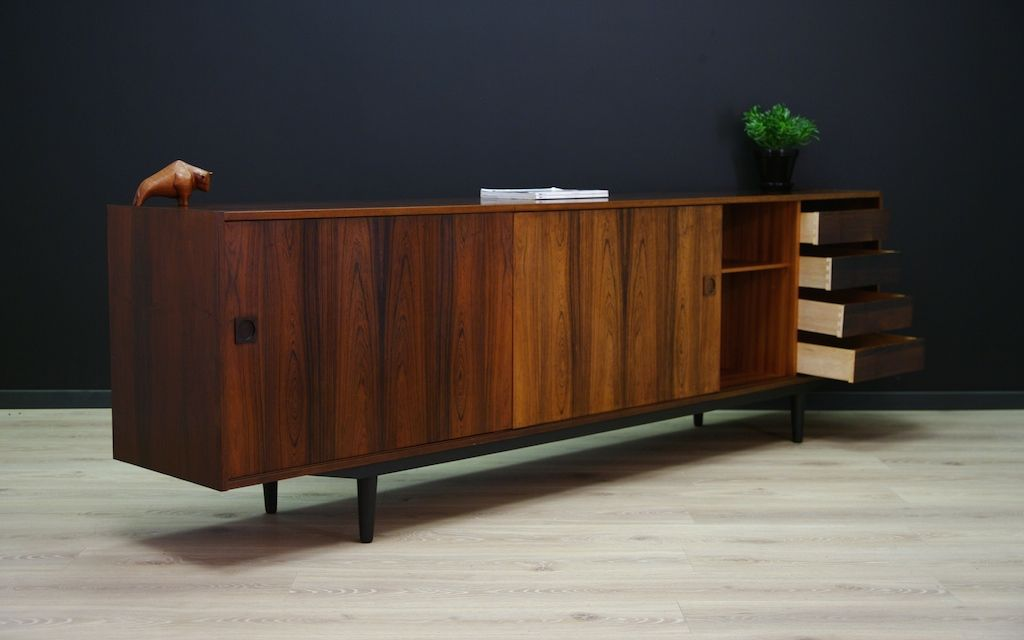 d nisches vintage palisander sideboard mit schiebet ren. Black Bedroom Furniture Sets. Home Design Ideas