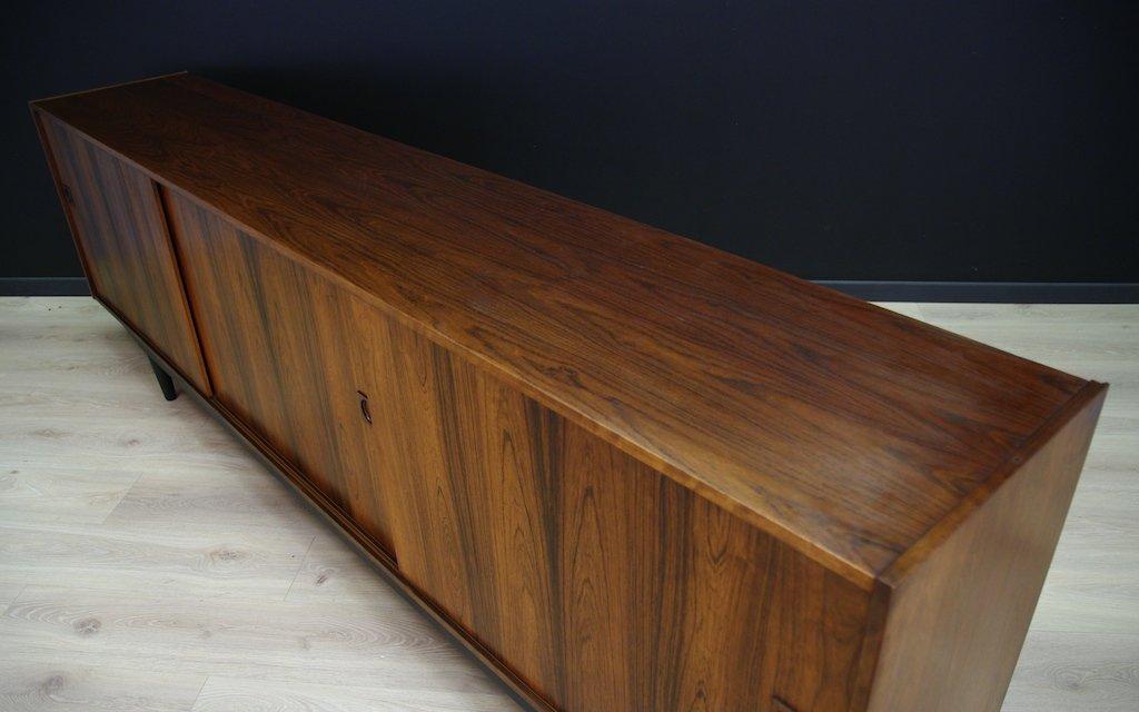 d nisches vintage palisander sideboard mit schiebet ren 1960er bei pamono kaufen. Black Bedroom Furniture Sets. Home Design Ideas