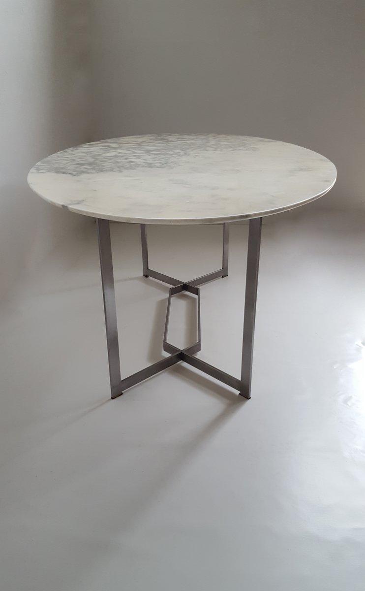 Franz sischer ovaler marmor edelstahl esstisch von paul for Marmor esstisch weiss