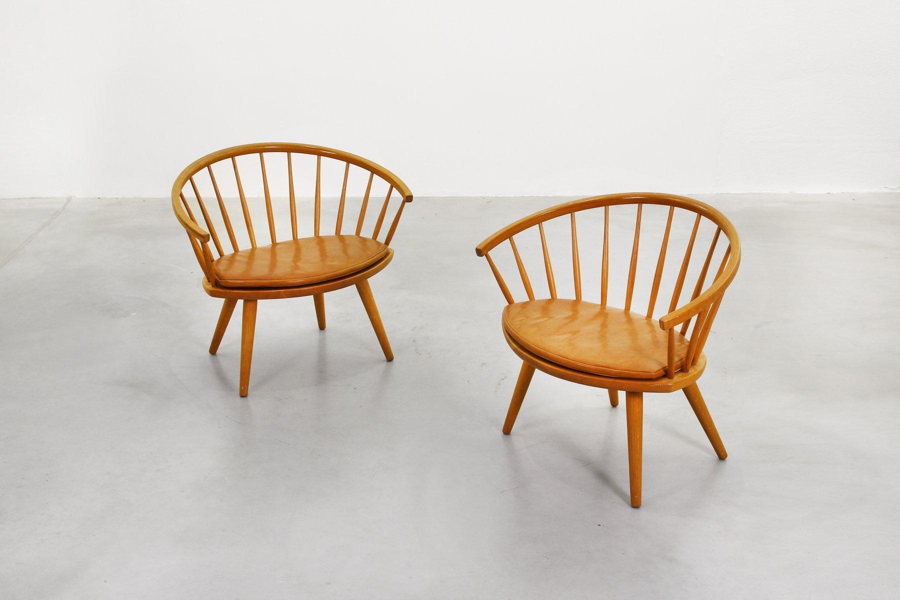 Armlehnstühle von Yngve Ekström für Stolab Sweden, 1950er, 2er Set bei Pamono kaufen