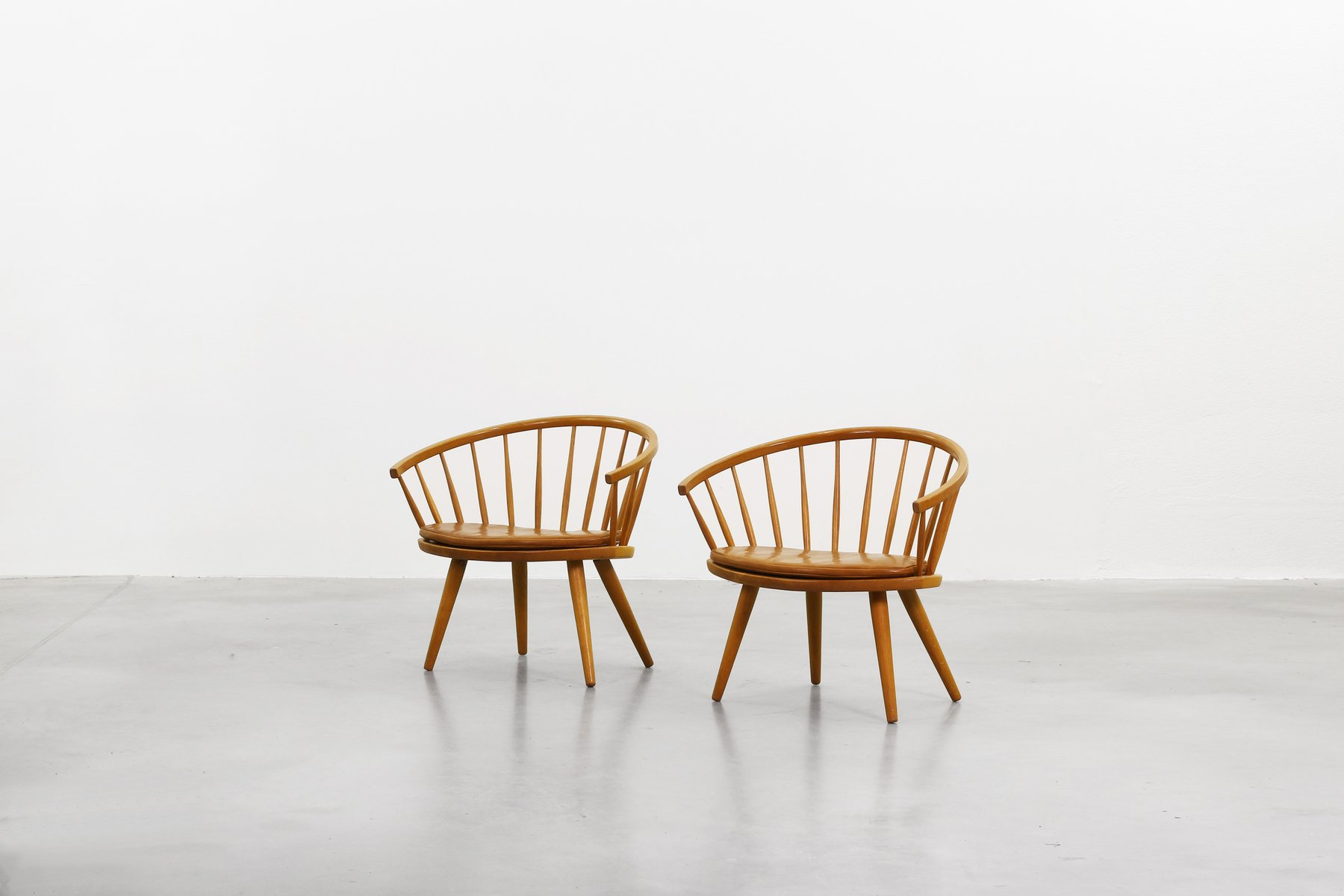 Armchairs by Yngve Ekström for Stolab Sweden, 1950s, Set of 2 for sale at Pamono