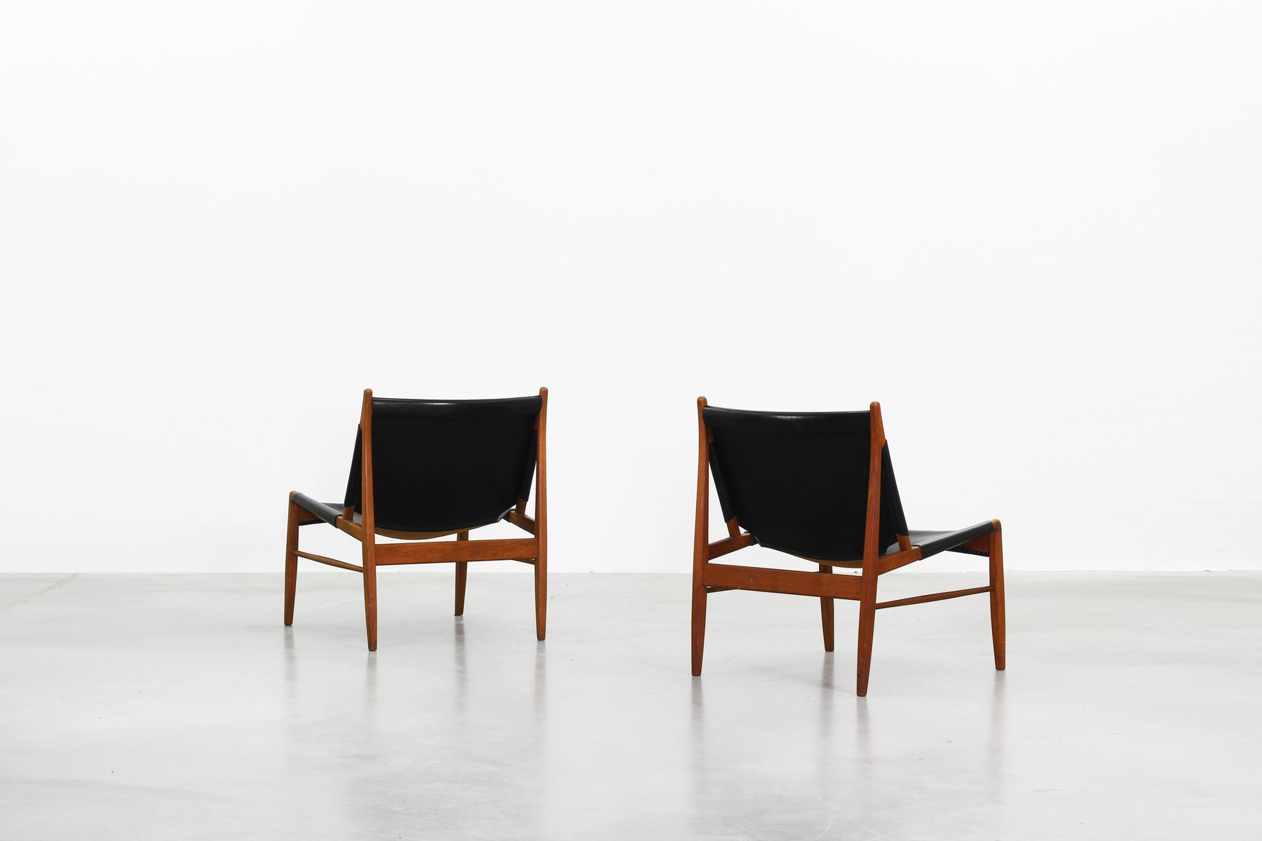lounge chairs by franz xaver lutz for wk möbel 1958 set of 2 for sale at pamono