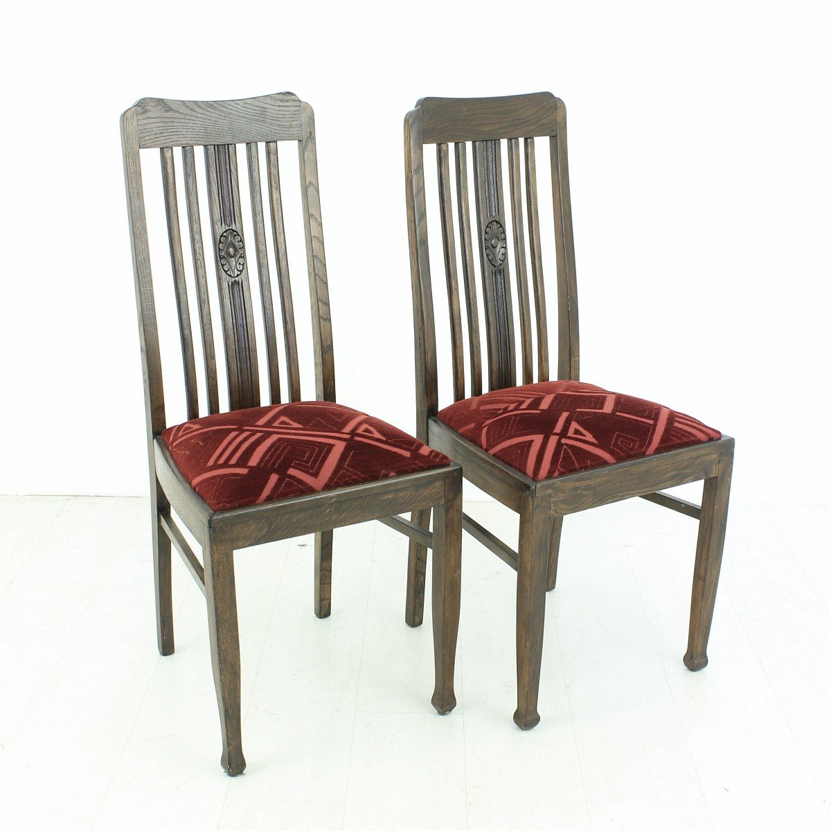 - Vintage Oak Dining Chairs, 1920s, Set Of 2 For Sale At Pamono