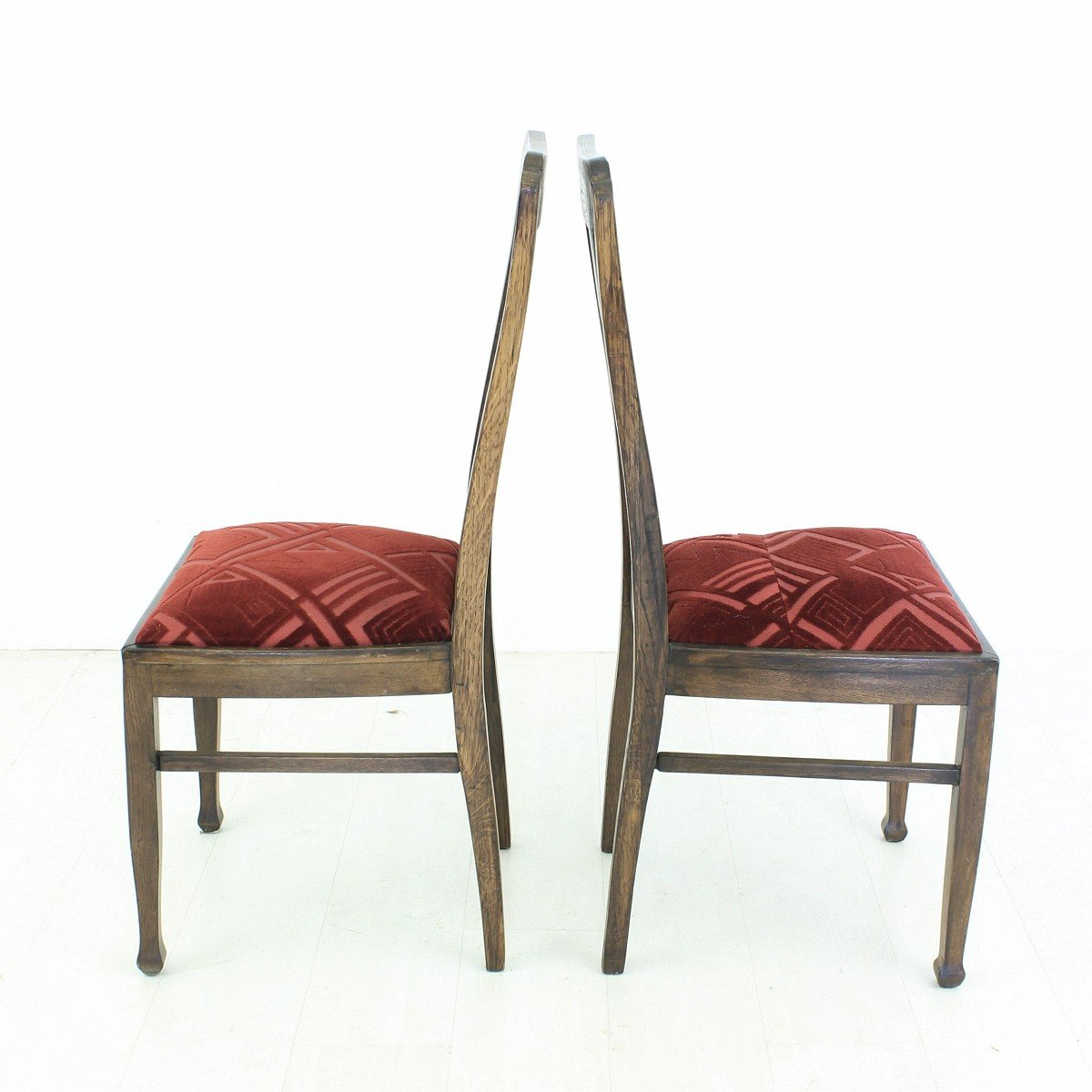 vintage oak dining chairs 1920s set of 2 for sale at pamono. Black Bedroom Furniture Sets. Home Design Ideas
