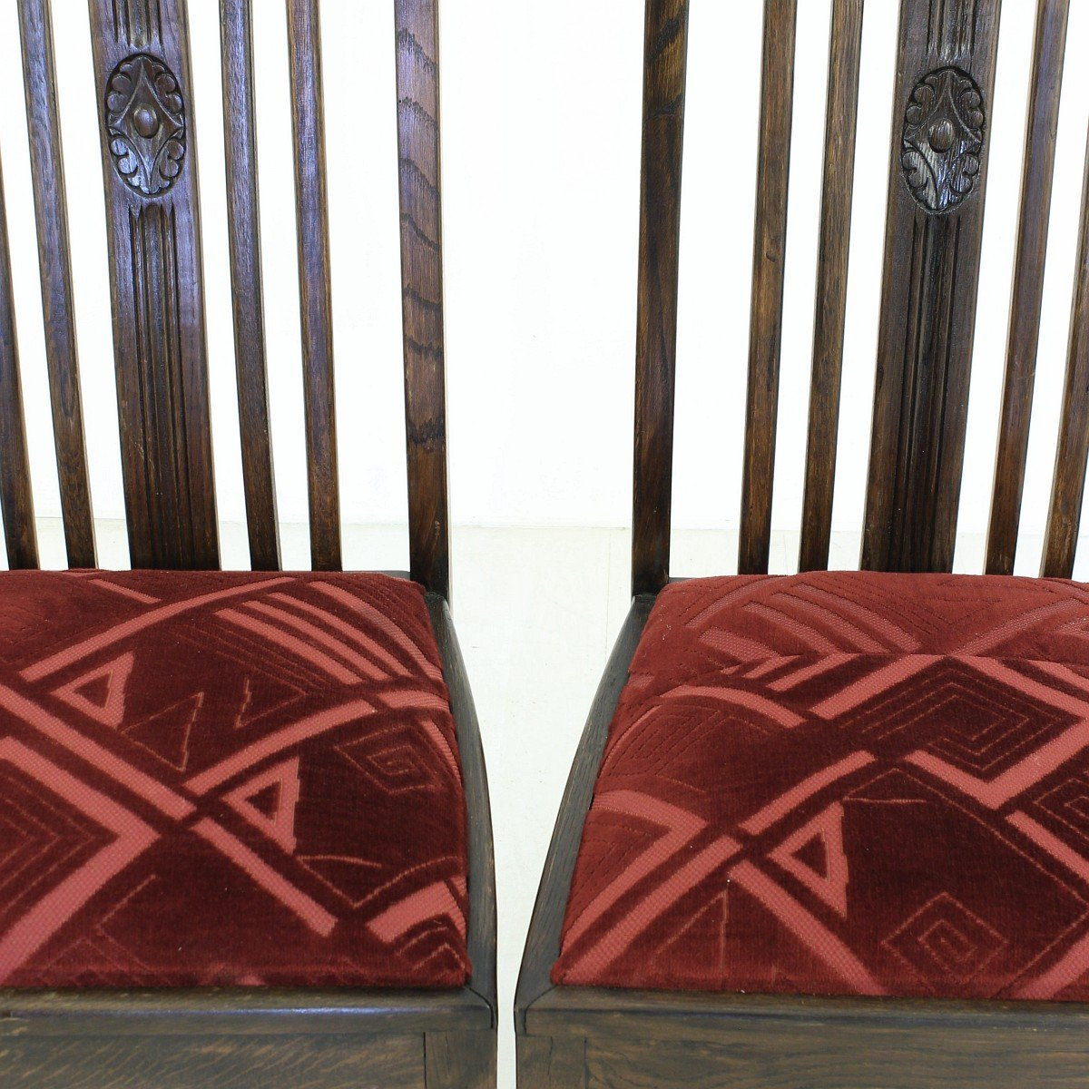 vintage oak dining chairs 1920s set of 2